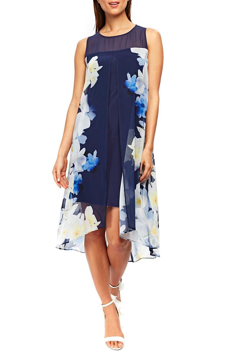 Floral Split Front Sleeveless Dress