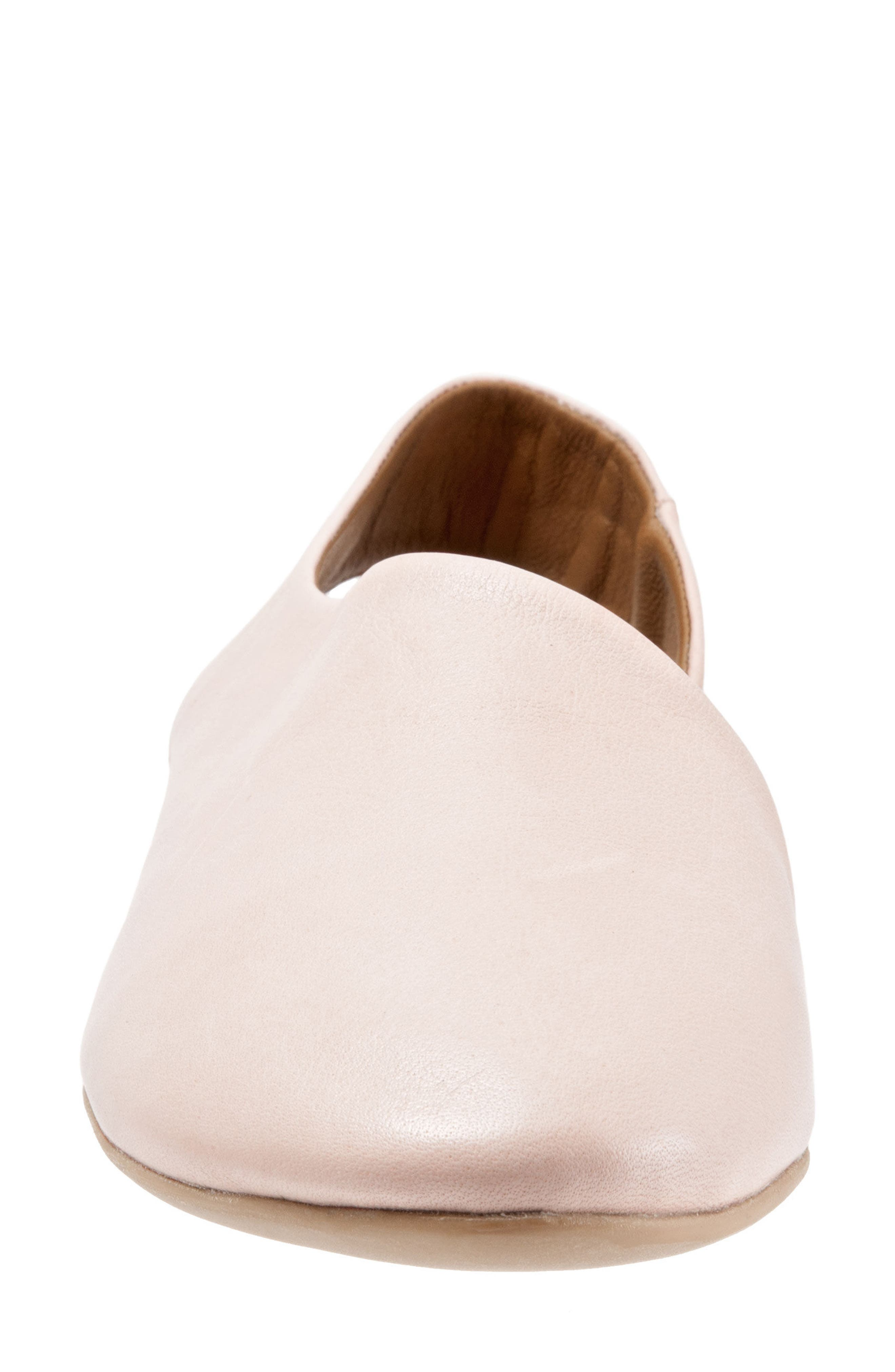 Keep Slingback Flat,                             Alternate thumbnail 4, color,                             Pale Pink Leather
