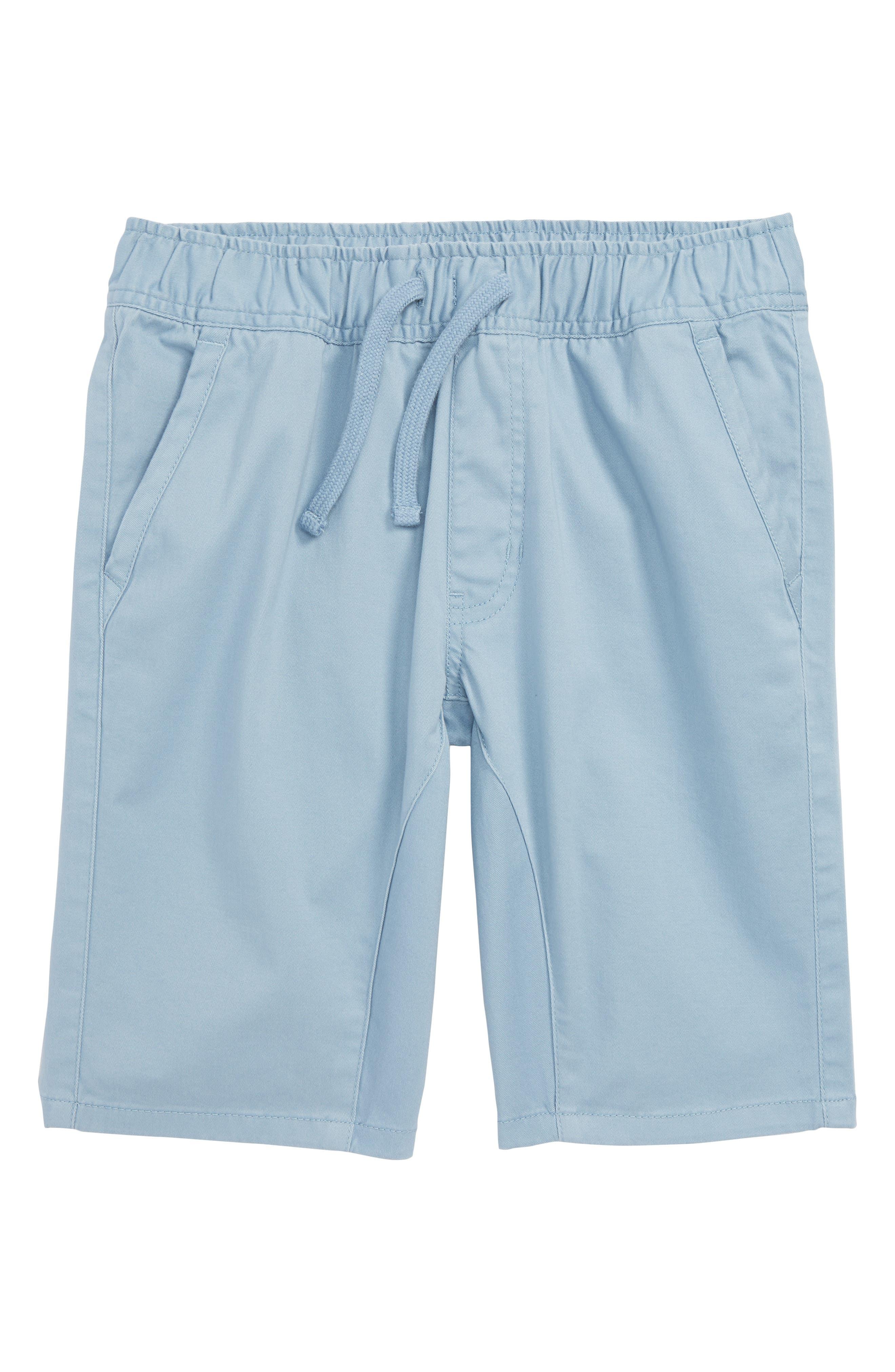 Knit Shorts,                         Main,                         color, Blue Chambray