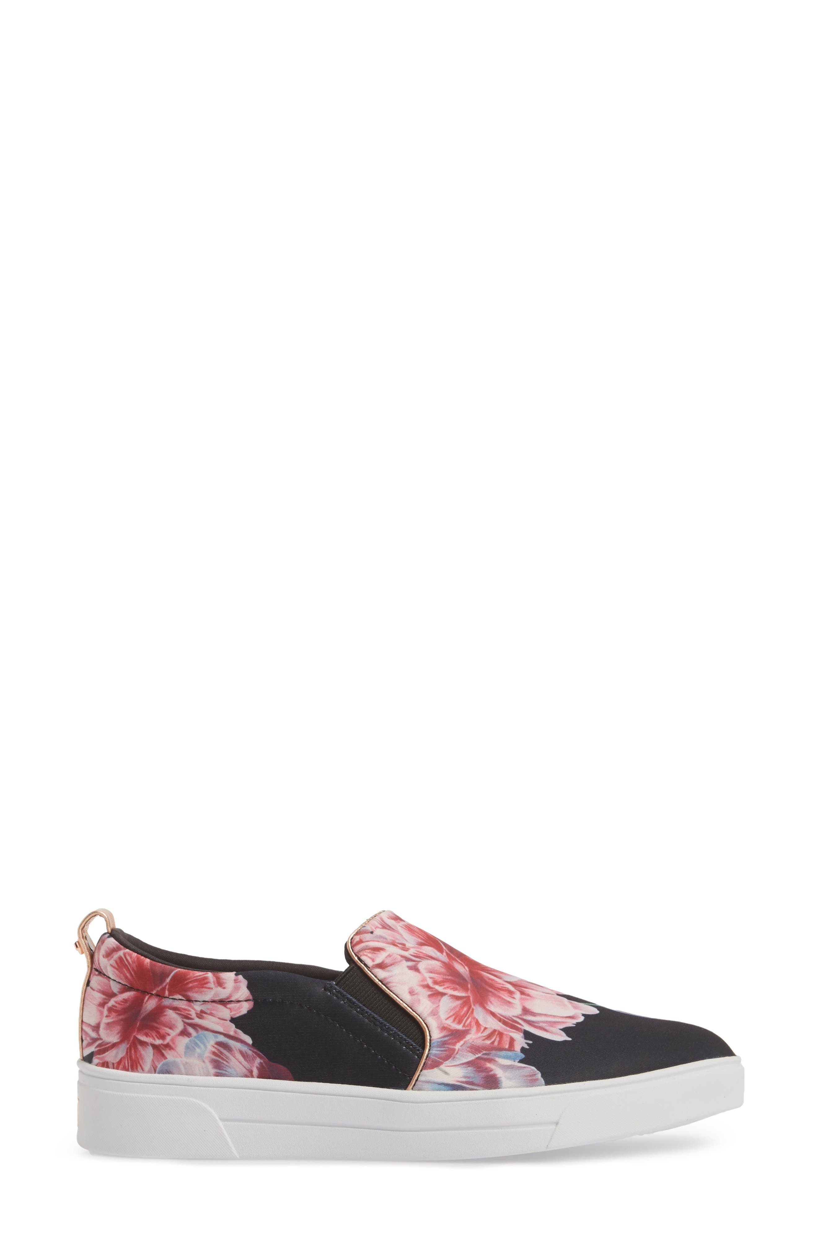 Tancey Slip-On Sneaker,                             Alternate thumbnail 3, color,                             Black Tranquility Fabric