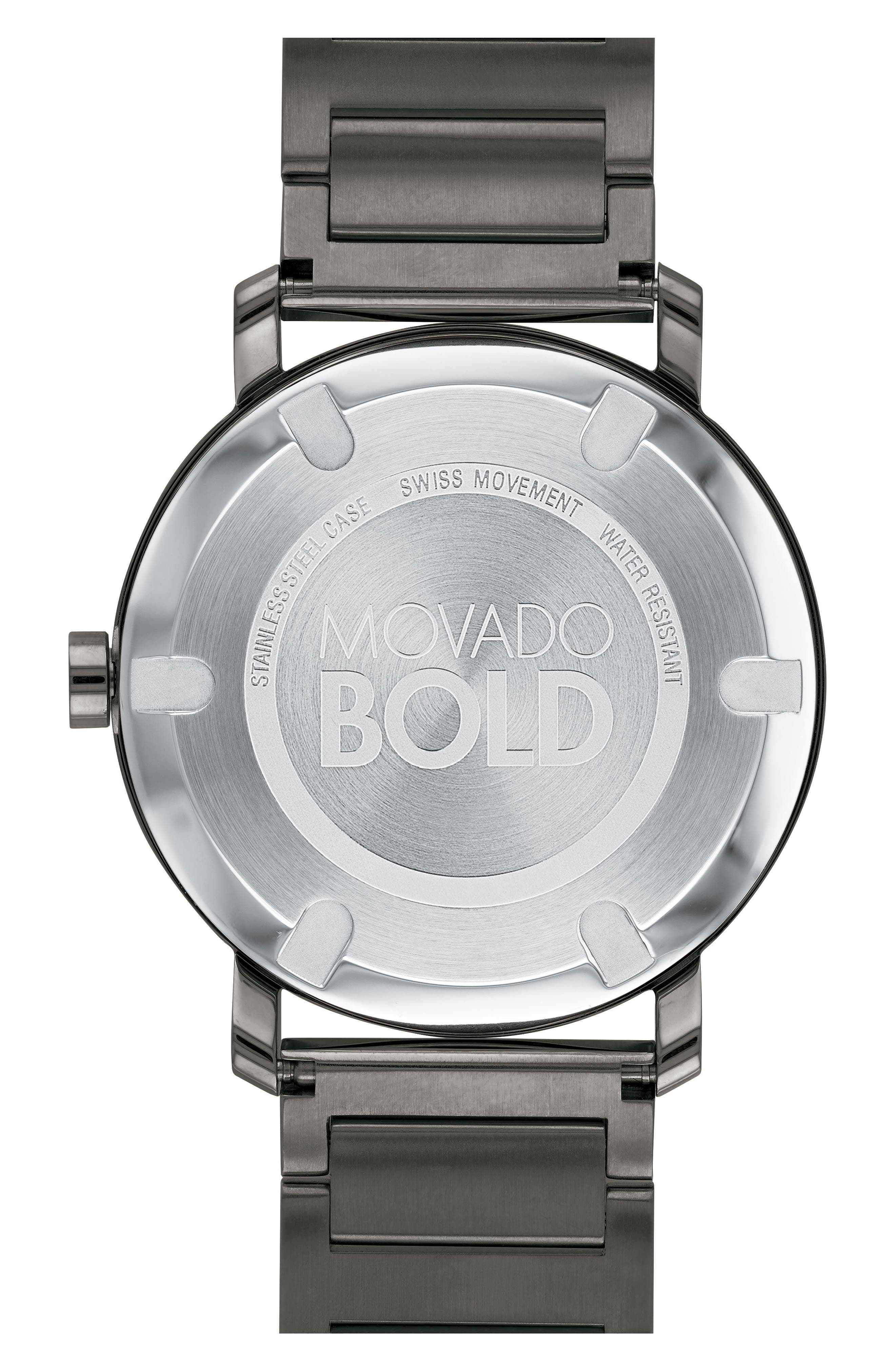 Bold Bracelet Watch, 40mm,                             Alternate thumbnail 2, color,                             Gunmetal