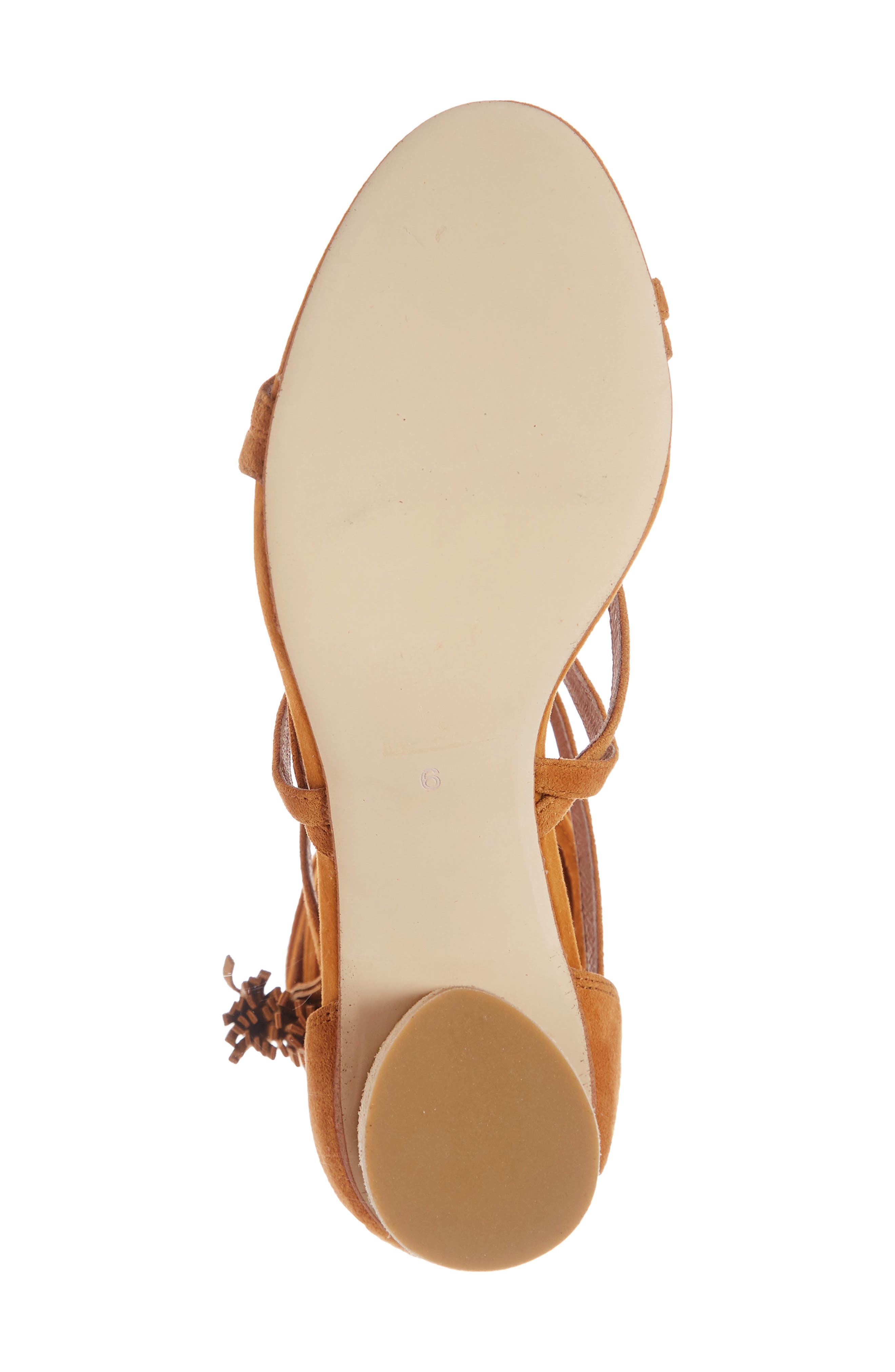 'Despina' Strappy Sandal,                             Alternate thumbnail 6, color,                             Mustard Suede