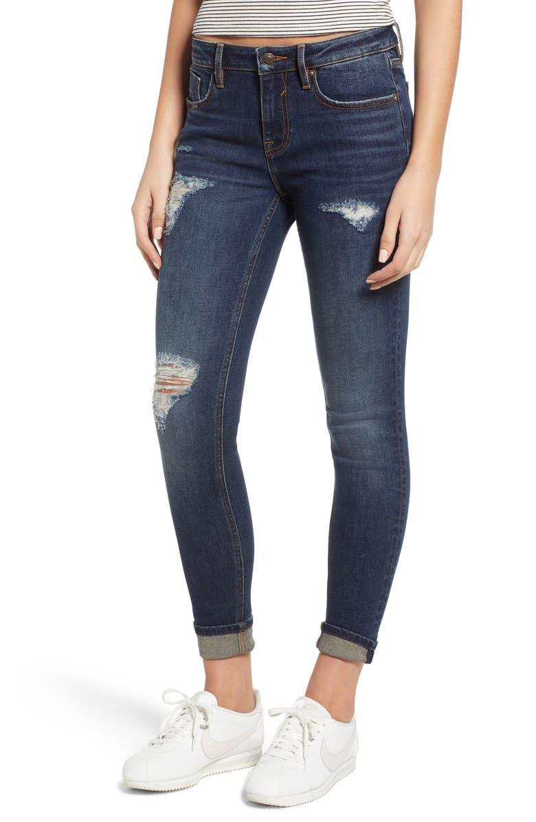 Jagger Distressed Skinny Jeans