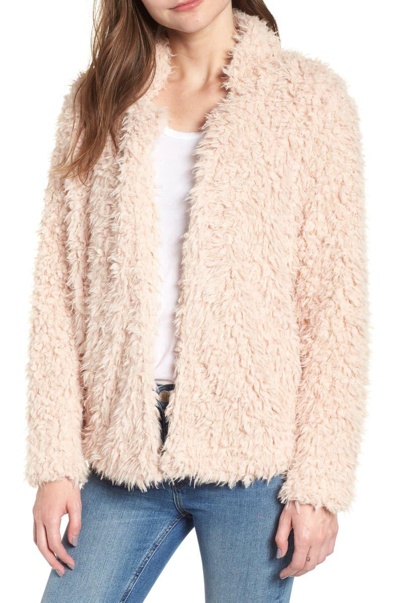 Bishop + Young Faux Fur Crop Jacket
