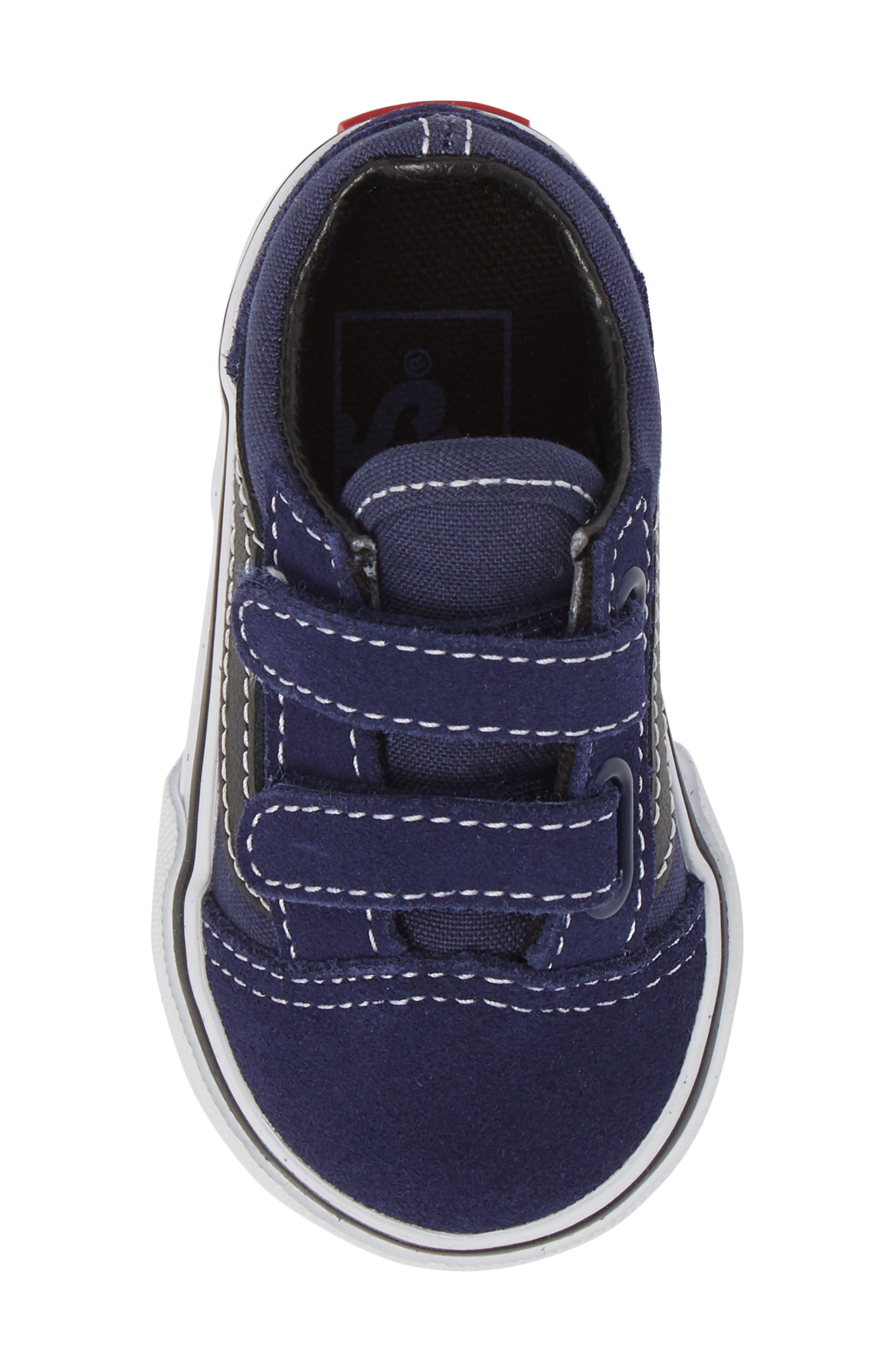Old Skool V Sneaker,                             Alternate thumbnail 4, color,                             Medieval Blue/ Black