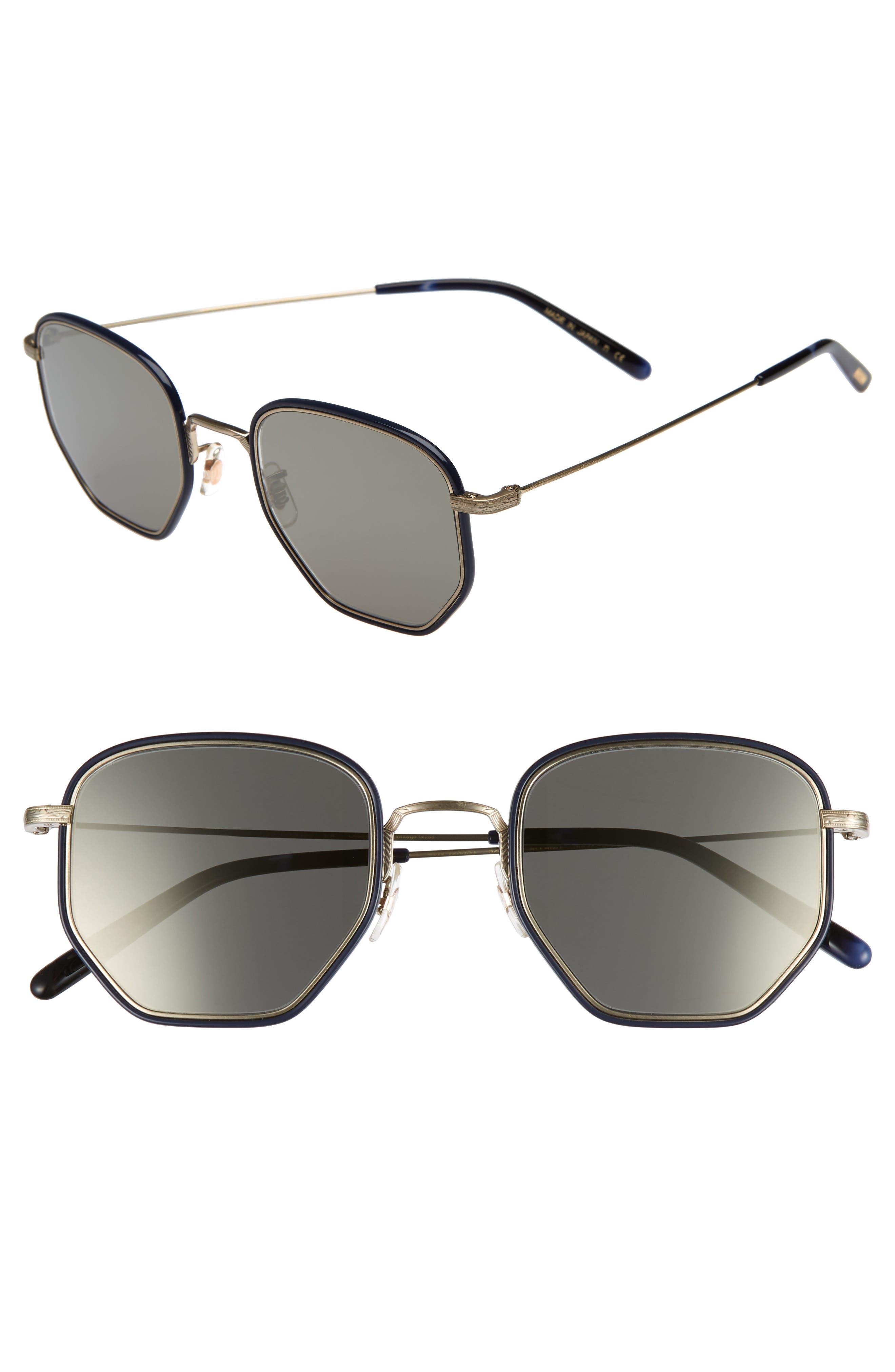 Alland 50mm Sunglasses,                             Main thumbnail 1, color,                             Navy/ Brushed