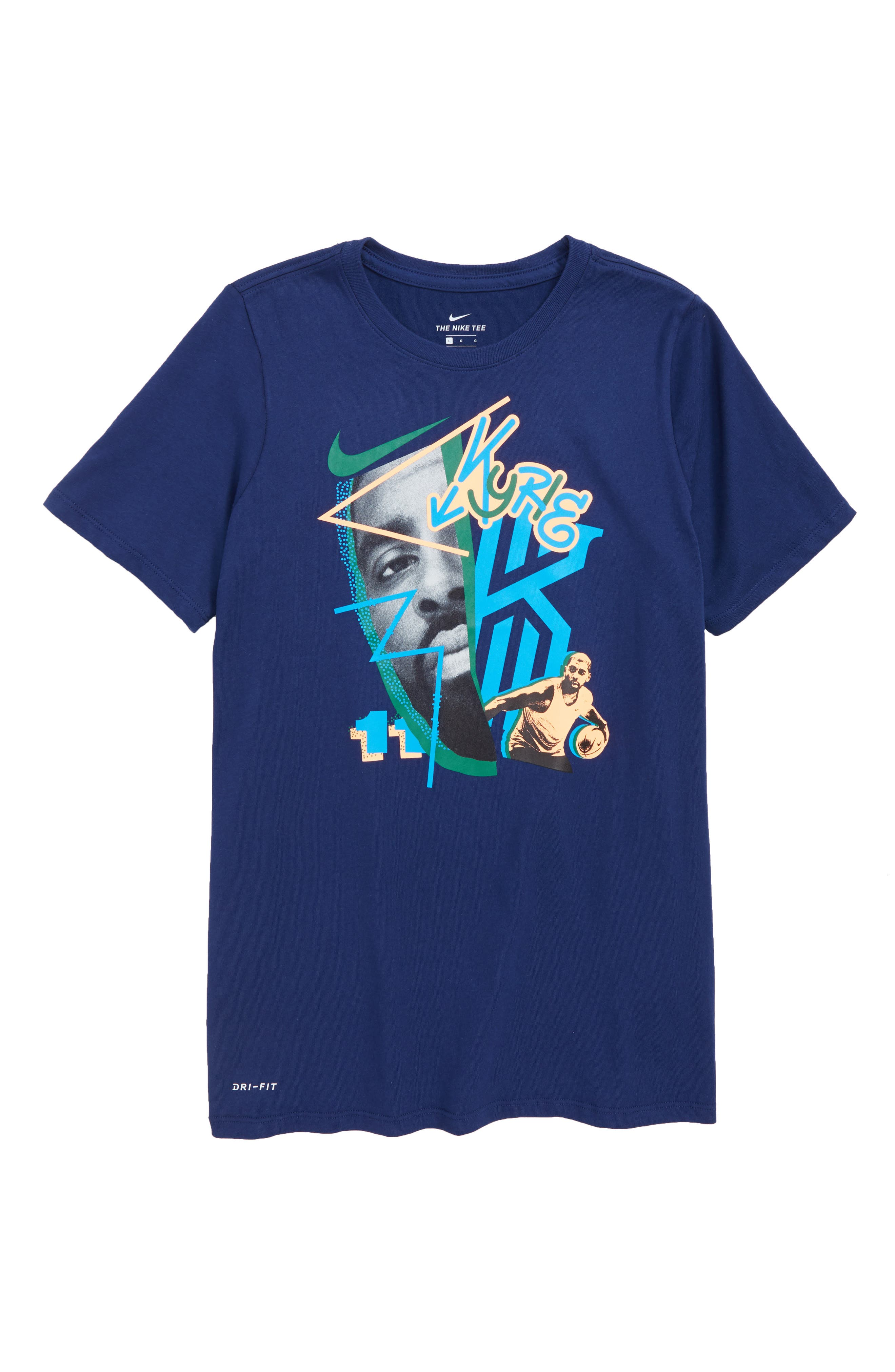 Kyrie Dry T-Shirt,                         Main,                         color, Blue Void