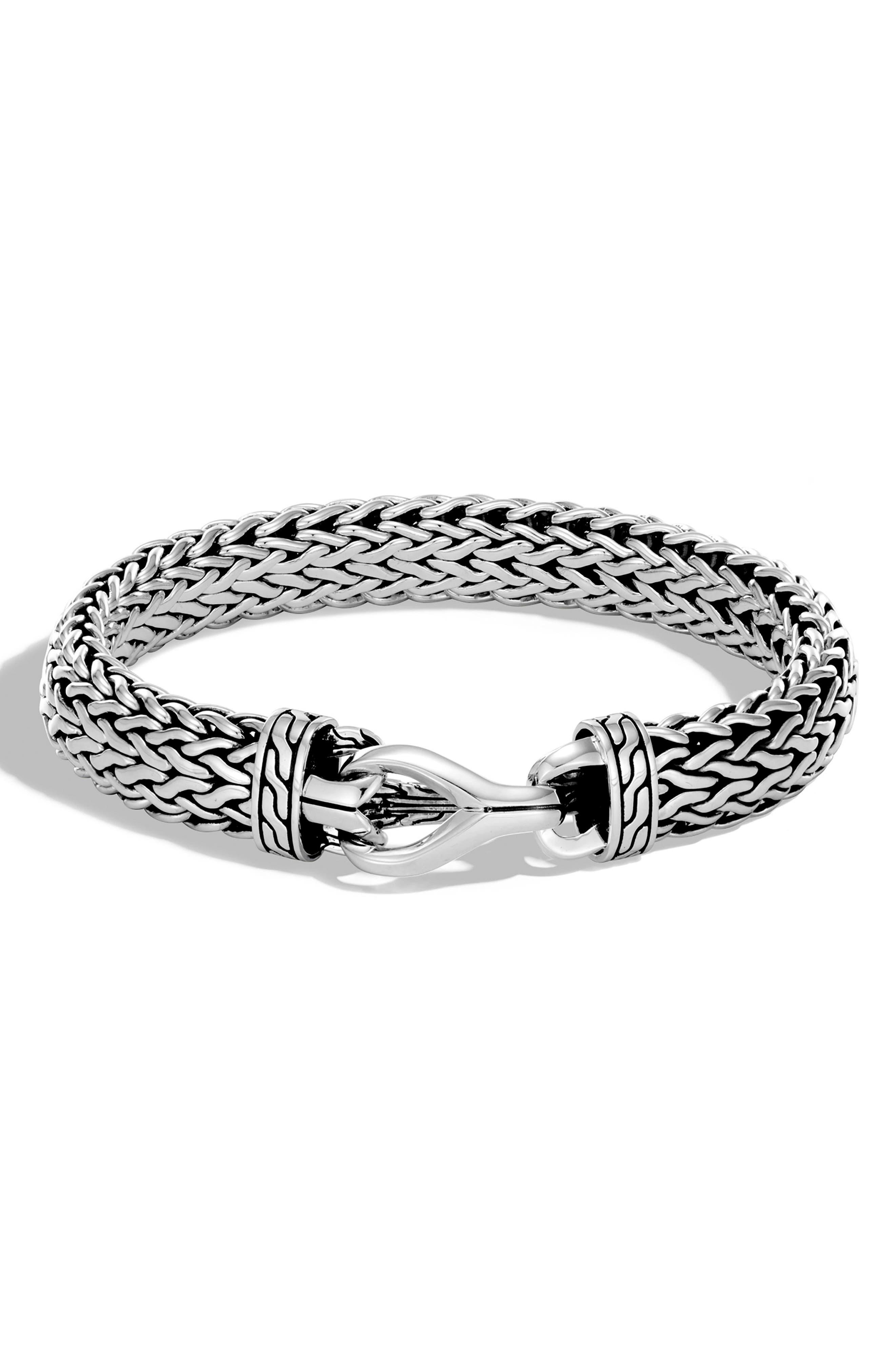 Men's Asli Classic Chain Link Bracelet,                             Main thumbnail 1, color,                             Silver