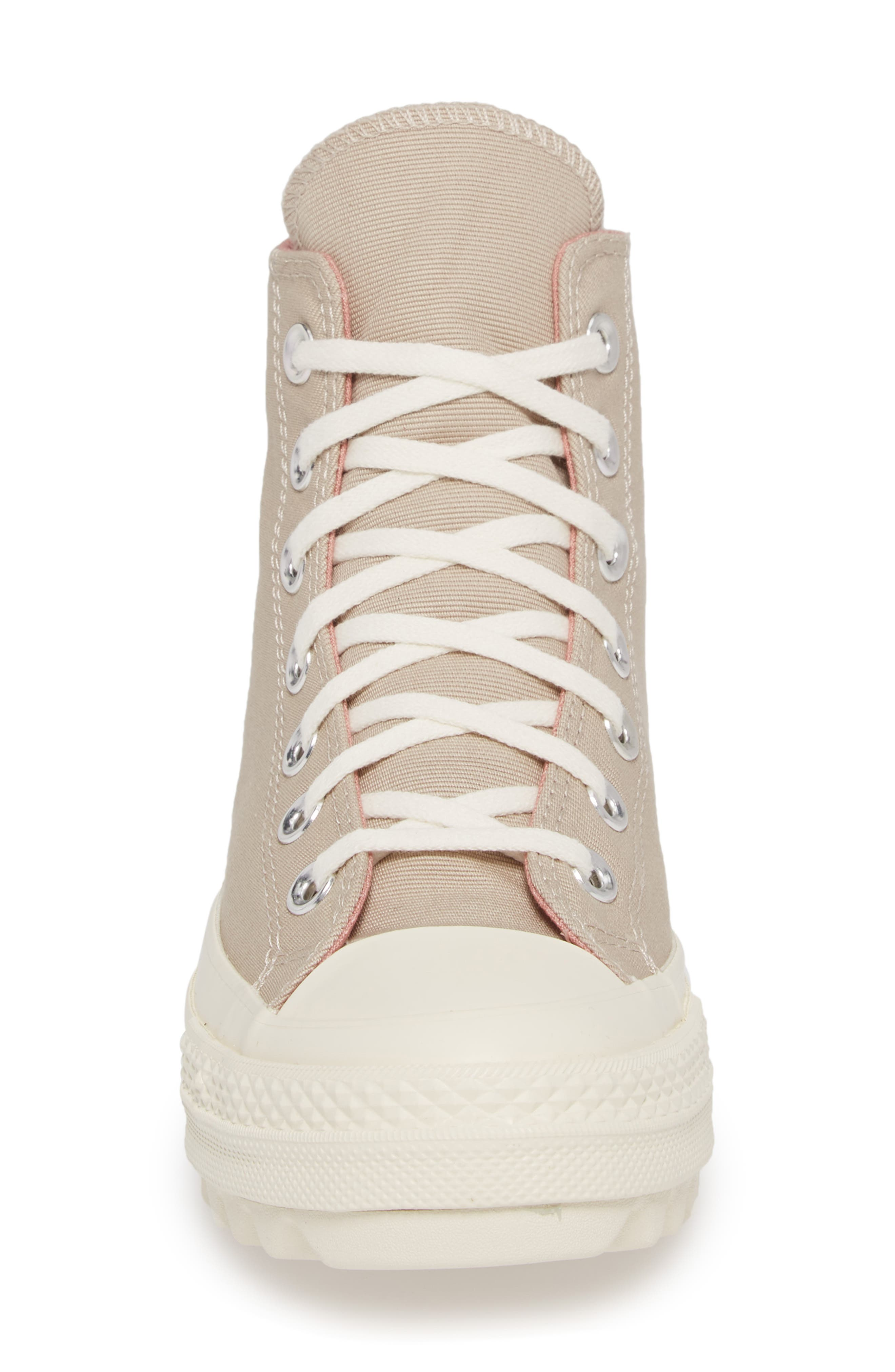 Chuck Taylor<sup>®</sup> All Star<sup>®</sup> Ripple High Top Sneaker,                             Alternate thumbnail 5, color,                             Papyrus Suede