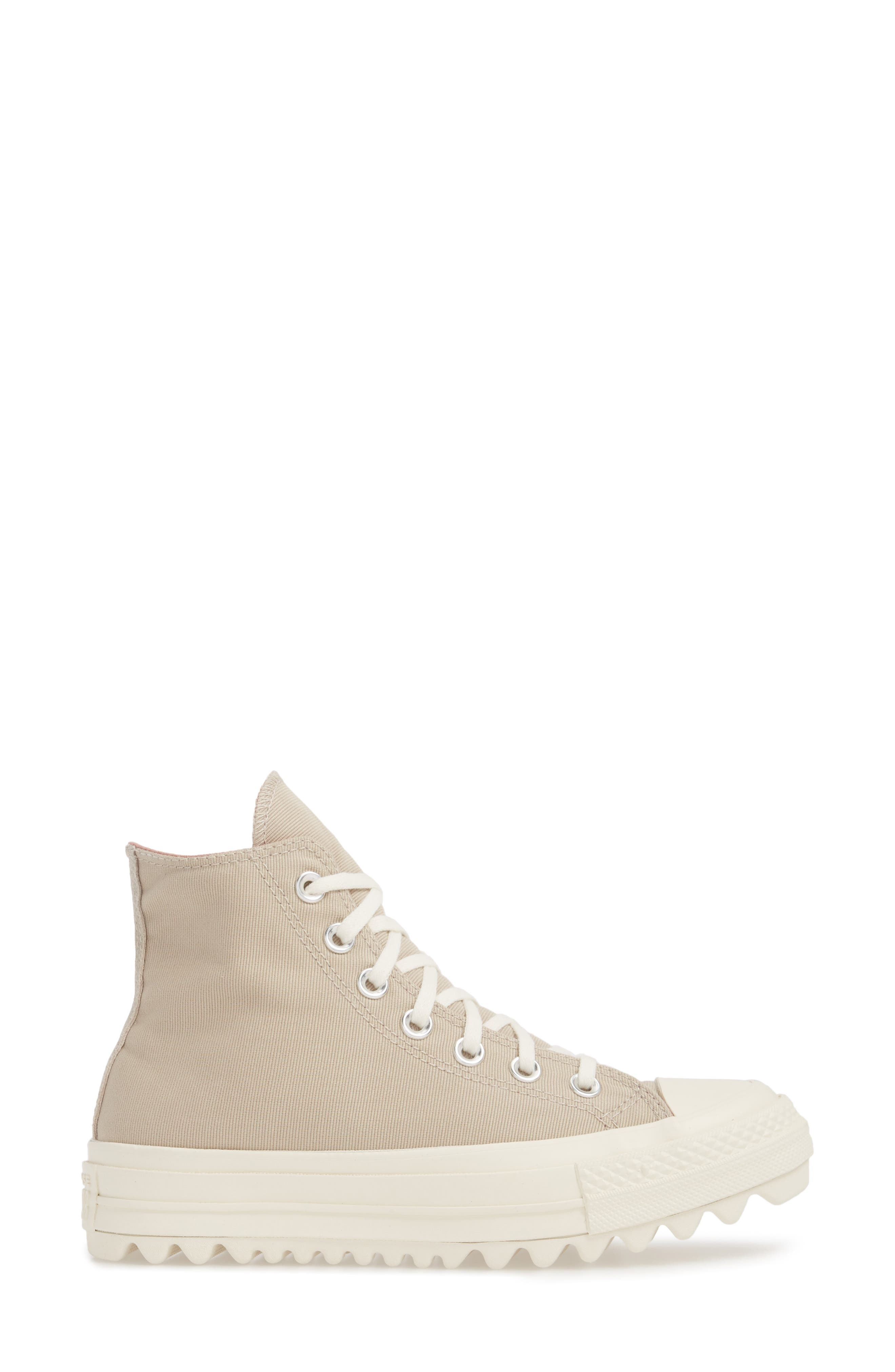 Chuck Taylor<sup>®</sup> All Star<sup>®</sup> Ripple High Top Sneaker,                             Alternate thumbnail 6, color,                             Papyrus Suede