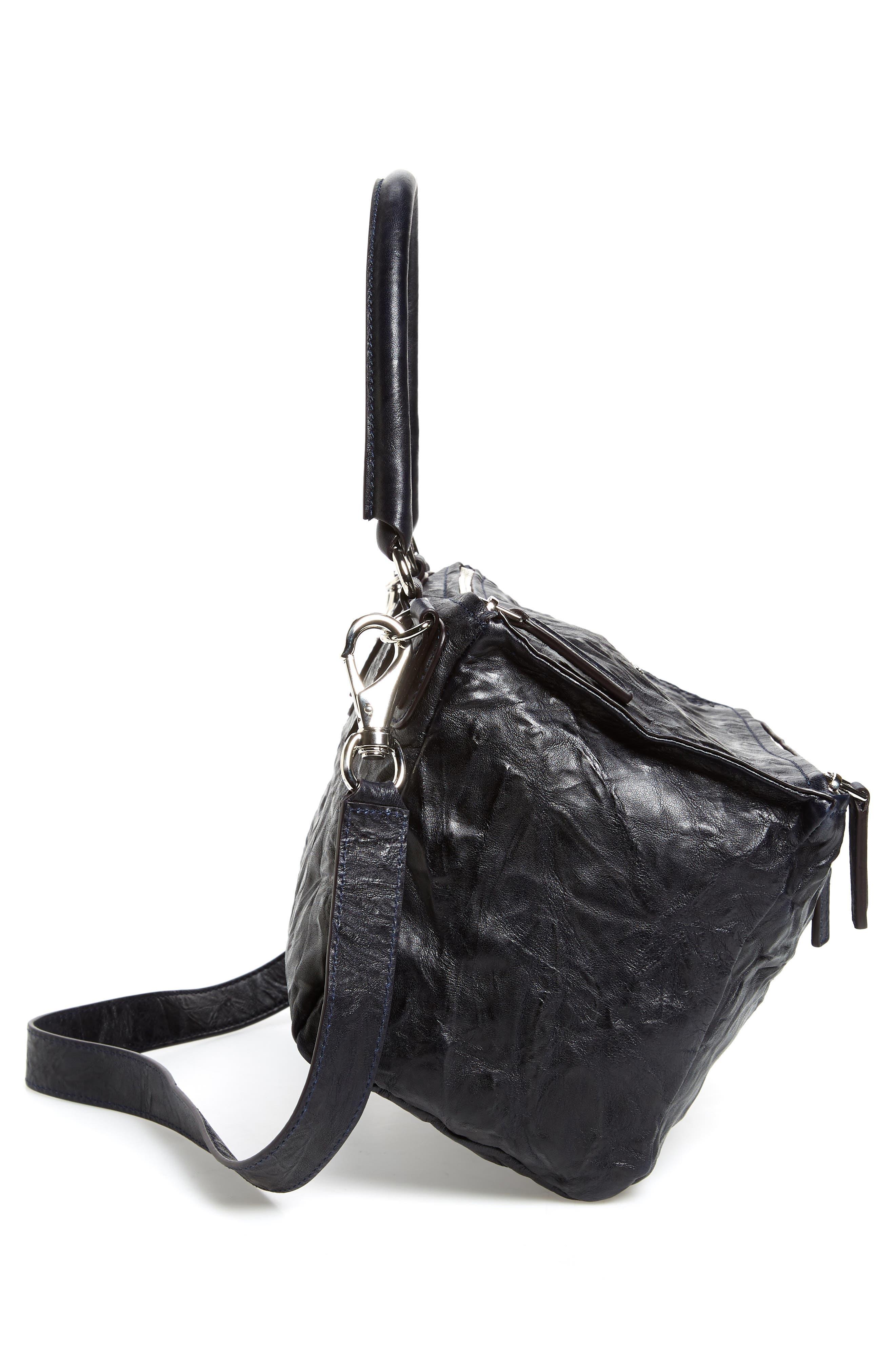 'Medium Pepe Pandora' Leather Satchel,                             Alternate thumbnail 5, color,                             Dark Blue