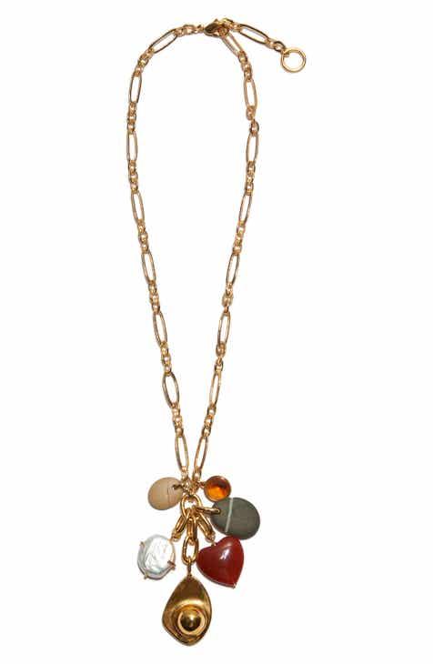3f031d728 Lizzie Fortunato Ravello Pearl   Stone Charm Necklace