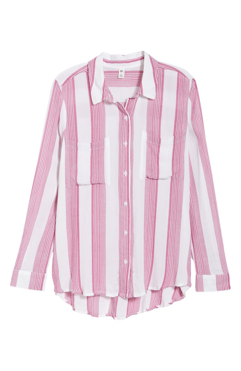 The Perfect Shirt,                         Main,                         color, Pink Plumier Alissa Stripe