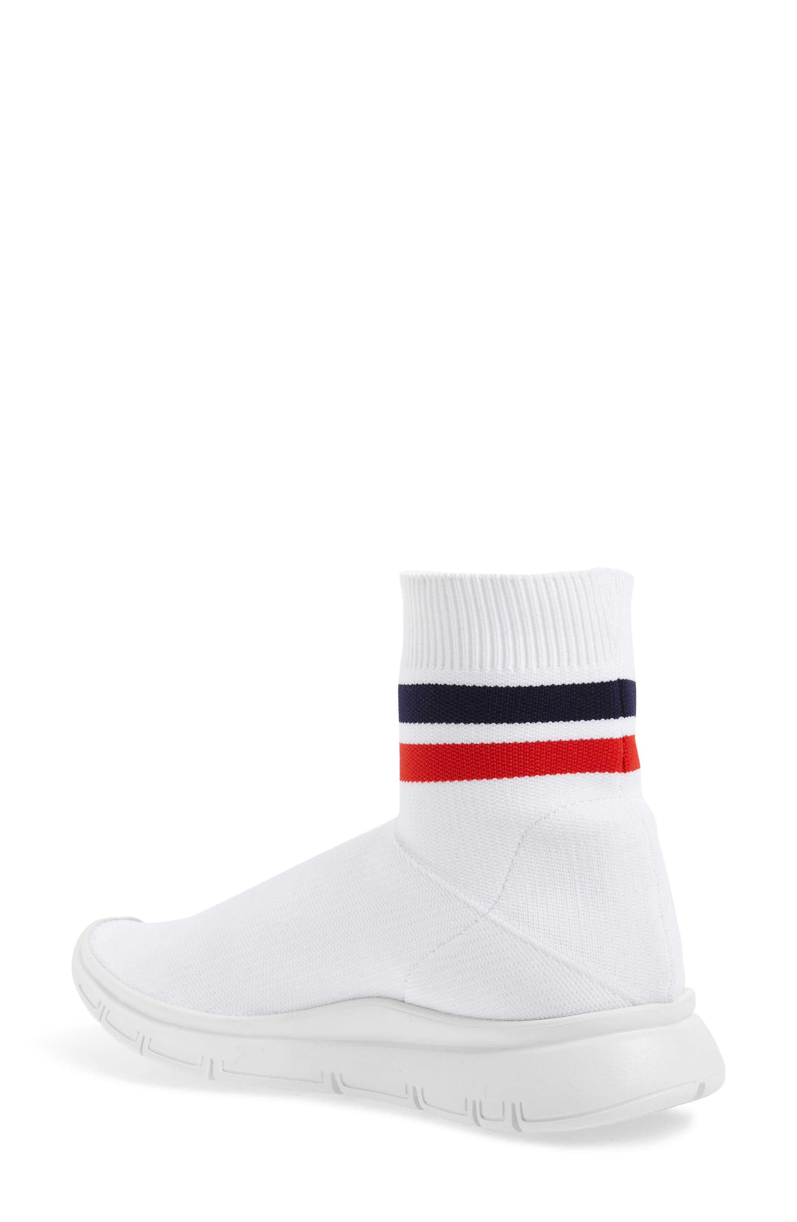 Jump High Top Sock Sneaker,                             Alternate thumbnail 2, color,                             White