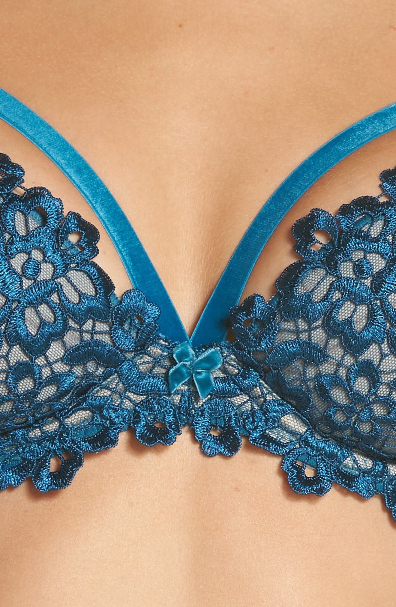 Underwire Balconette Bra,                             Alternate thumbnail 7, color,                             Peacock
