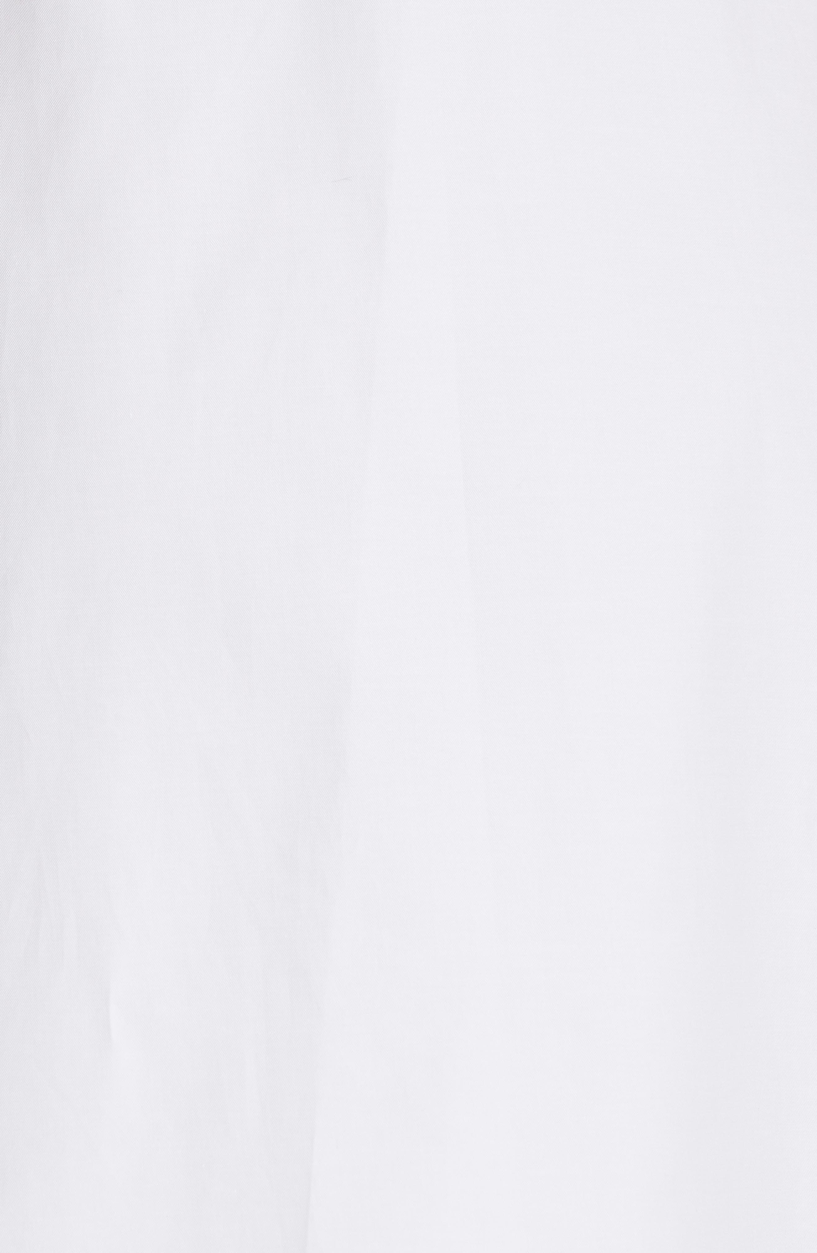 ruffle cotton poplin dress,                             Alternate thumbnail 3, color,                             Fresh White