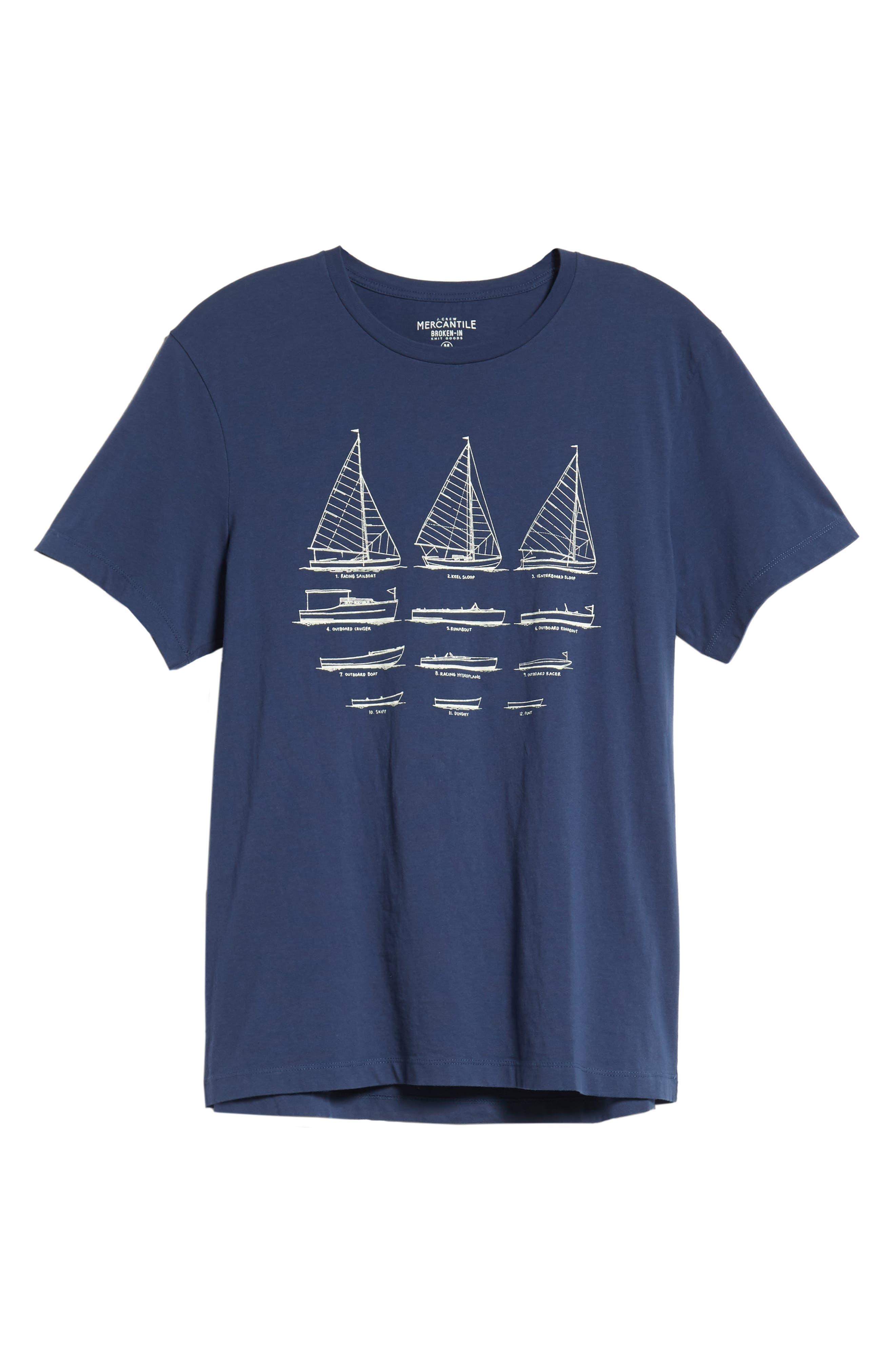 Mercantile Sailboat Graphic T-Shirt,                             Alternate thumbnail 5, color,                             Boat Sketch