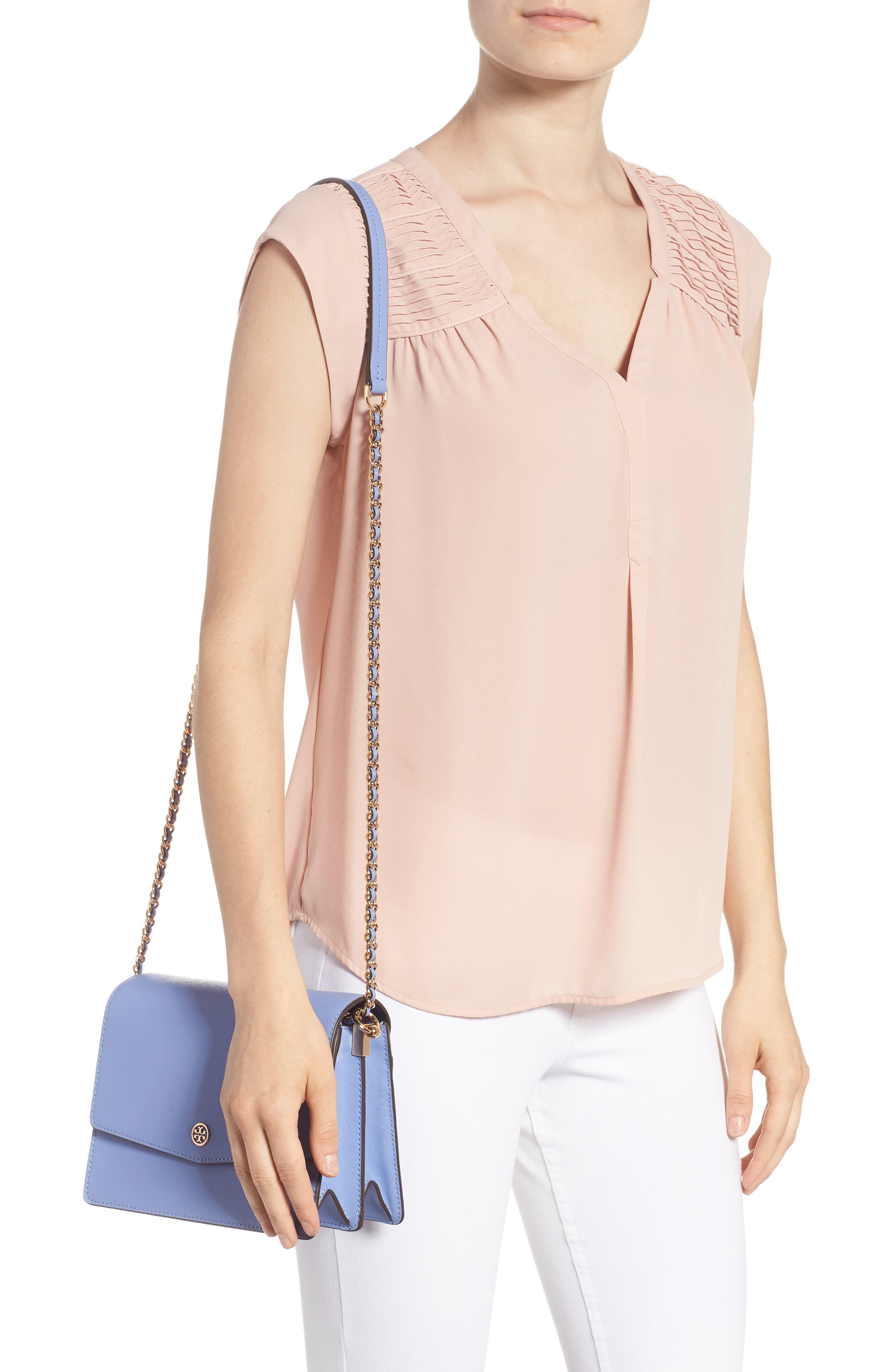 Robinson Convertible Leather Shoulder Bag,                             Alternate thumbnail 2, color,                             Bow Blue