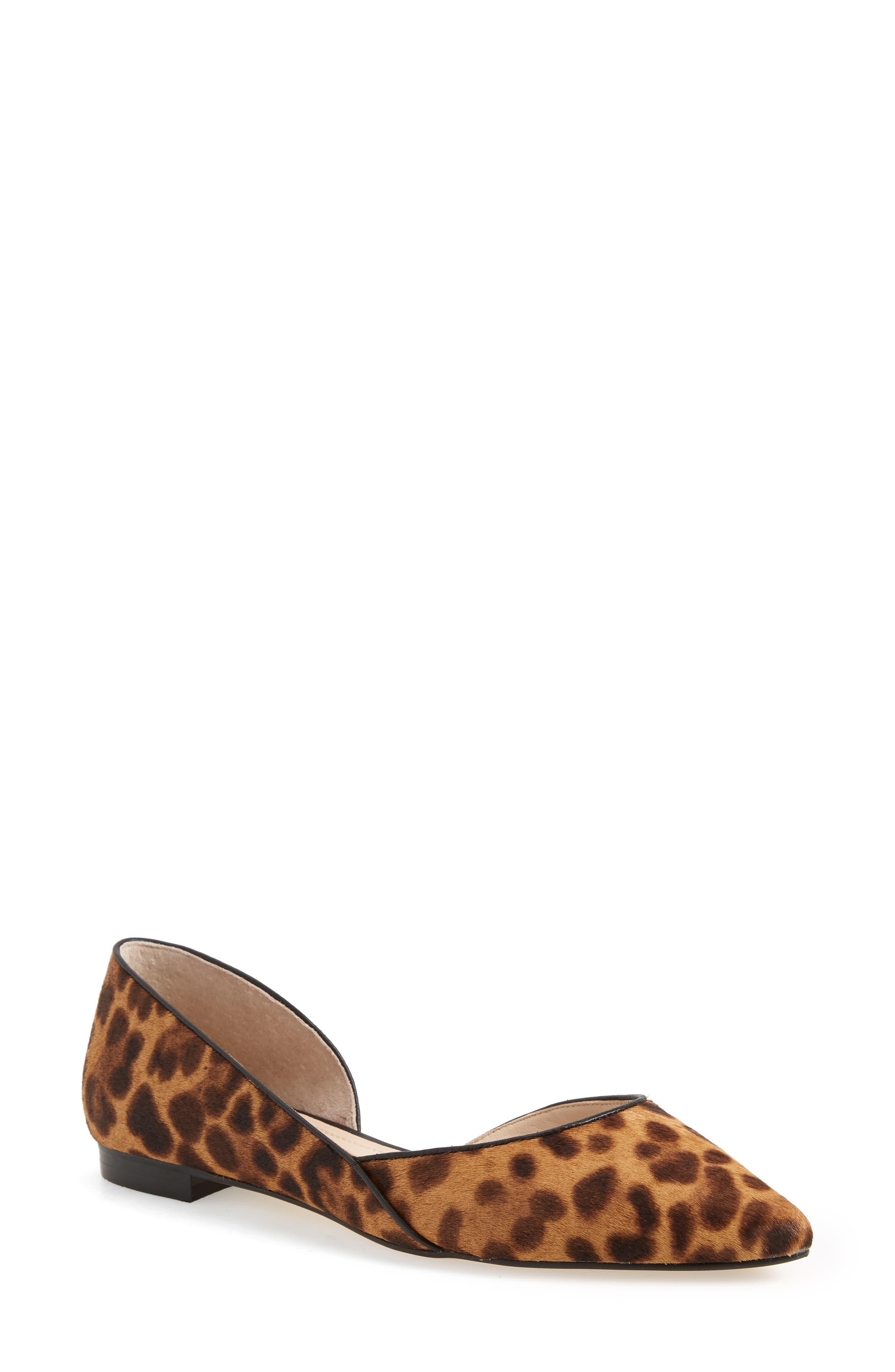 Sunny Genuine Calf Hair Flat,                         Main,                         color, Leopard Calf Hair