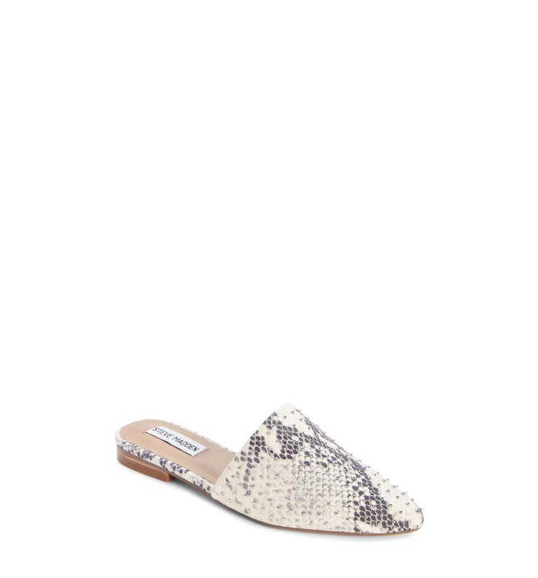 Trace Studded Mule,                         Main,                         color, Natural Snake Print Leather