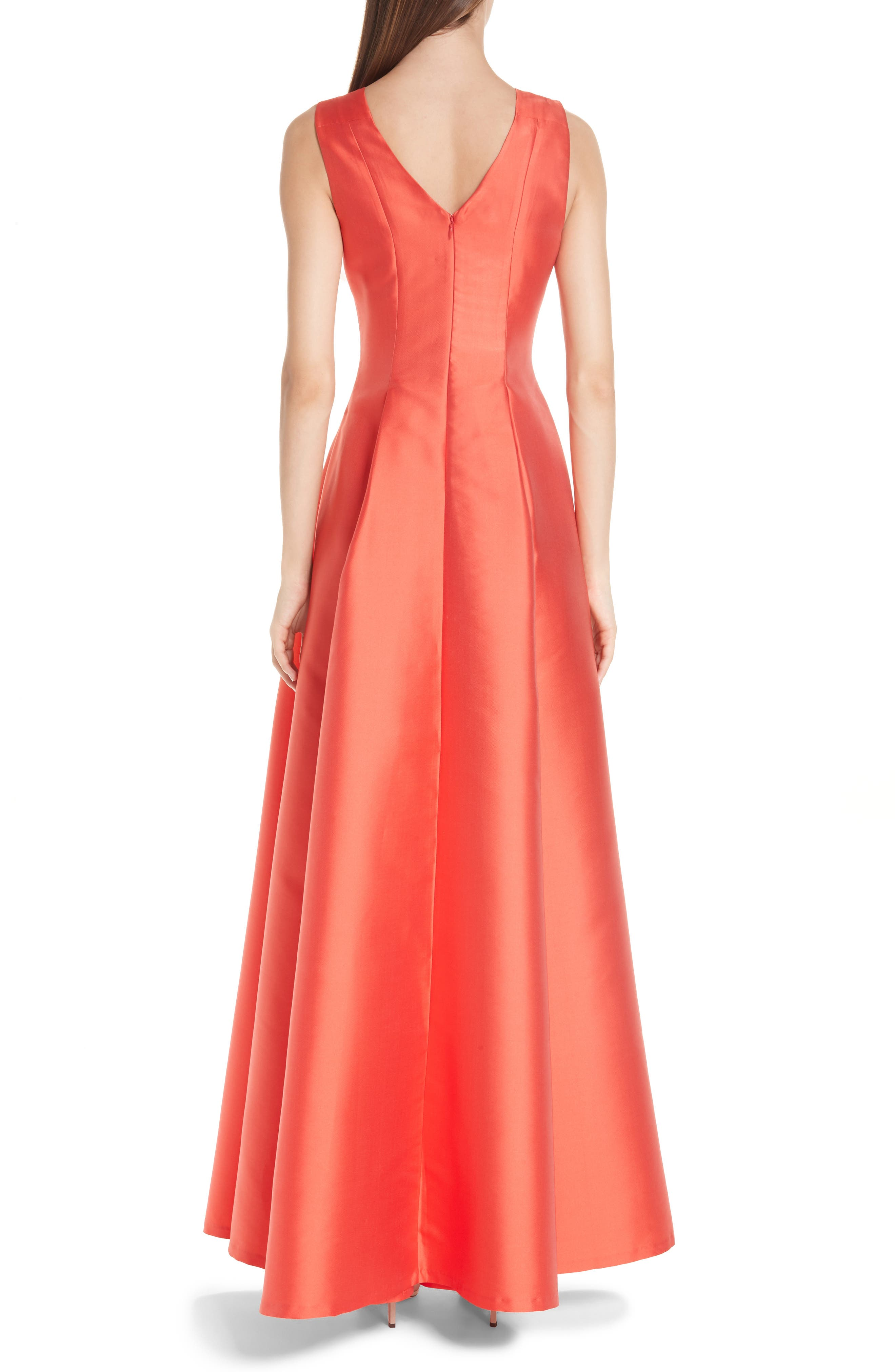 Marmara Ballgown,                             Alternate thumbnail 2, color,                             Coral Red
