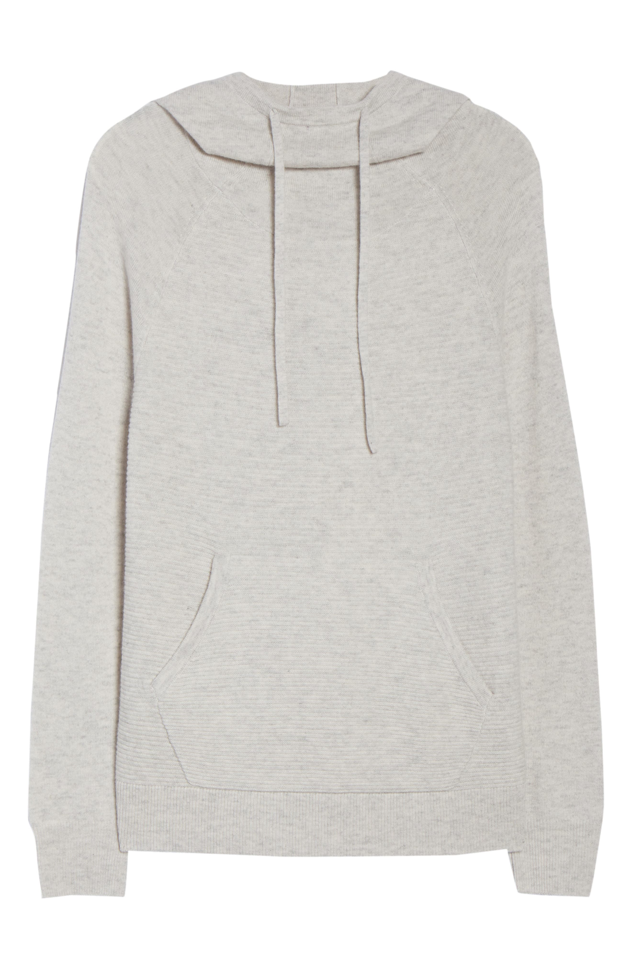 Cashmere and Wool Hoodie,                             Alternate thumbnail 7, color,                             Grey Chime Heather