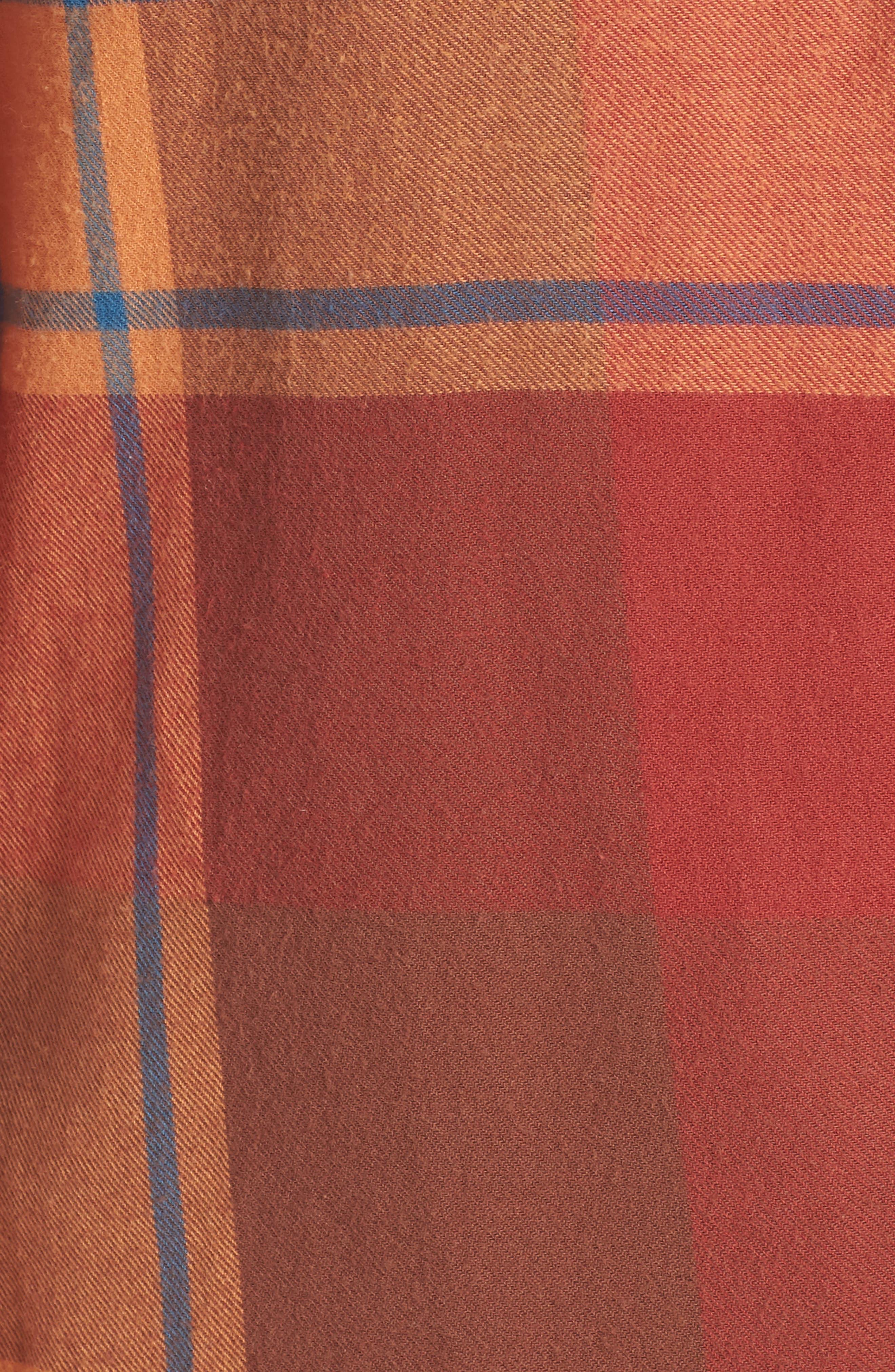 Hooded Plaid Shirt,                             Alternate thumbnail 5, color,                             Blue Star Roselyn Plaid