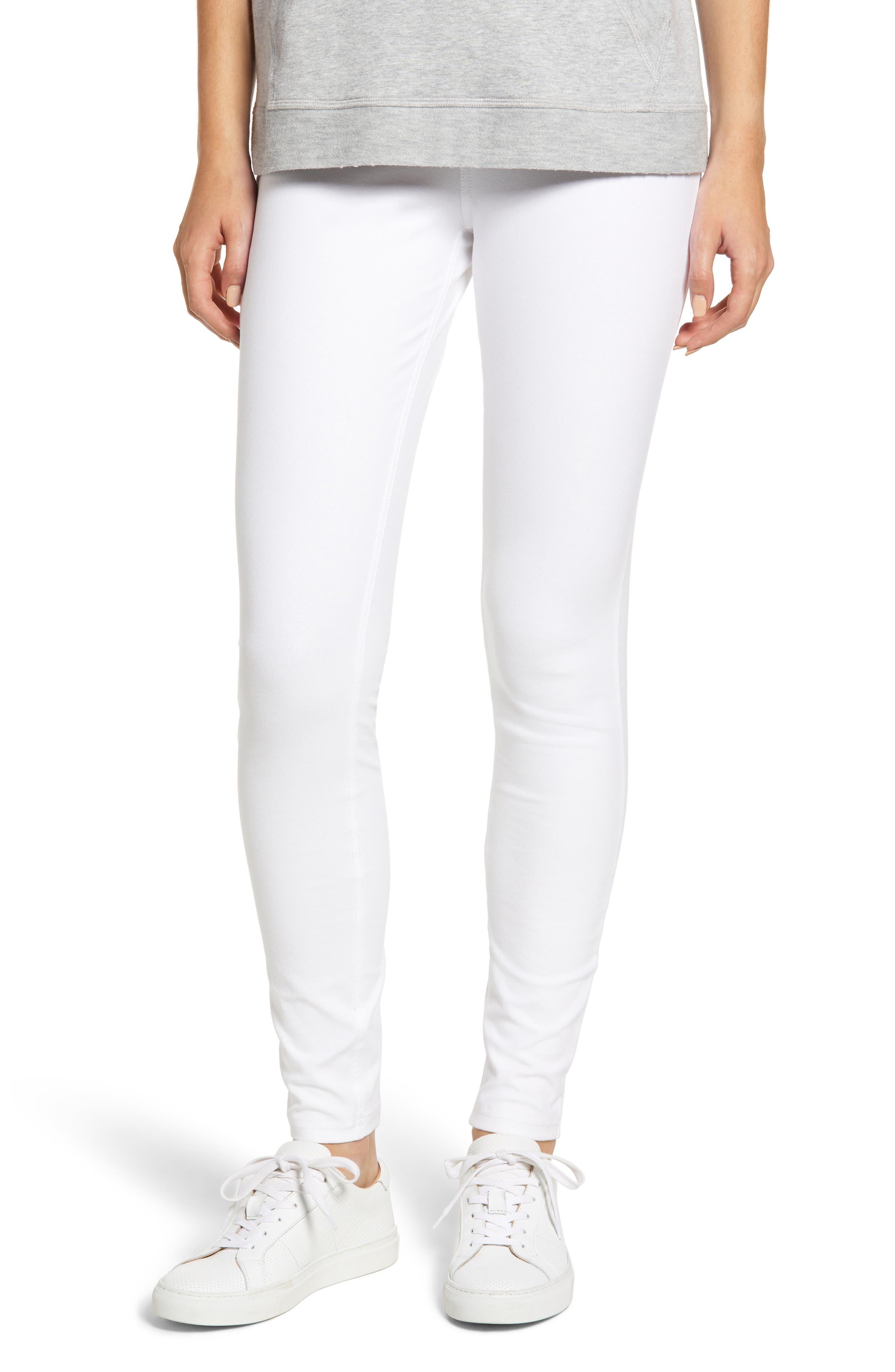 Denim Leggings,                         Main,                         color, White