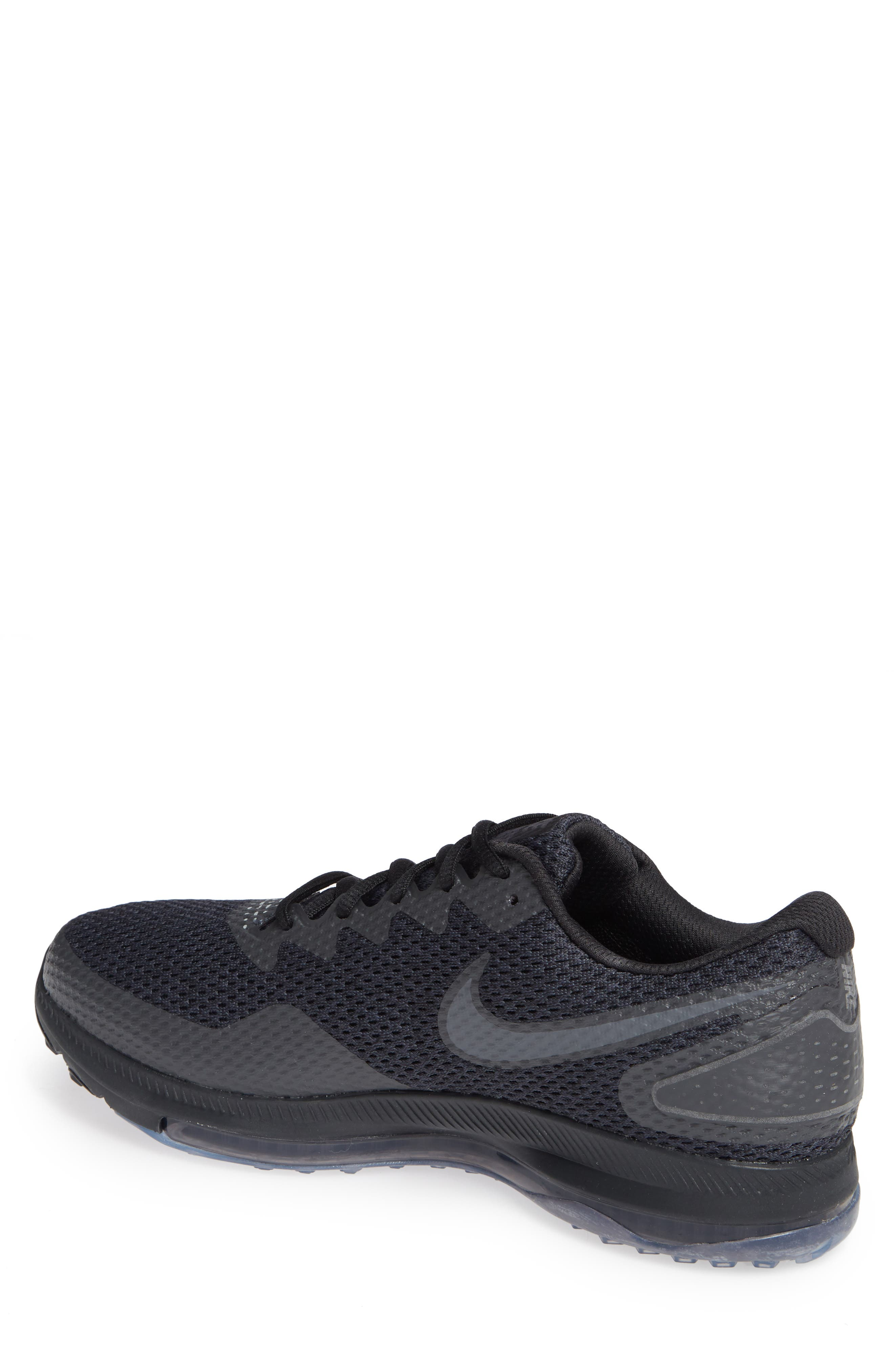 Zoom All Out Low 2 Running Shoe,                             Alternate thumbnail 2, color,                             Black/ Dark Grey/ Anthracite
