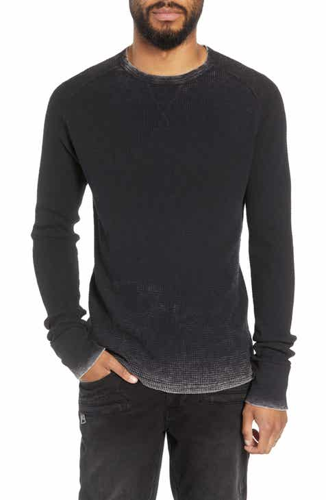 Mens waffle knit shirt nordstrom hudson slim fit long sleeve thermal publicscrutiny Choice Image