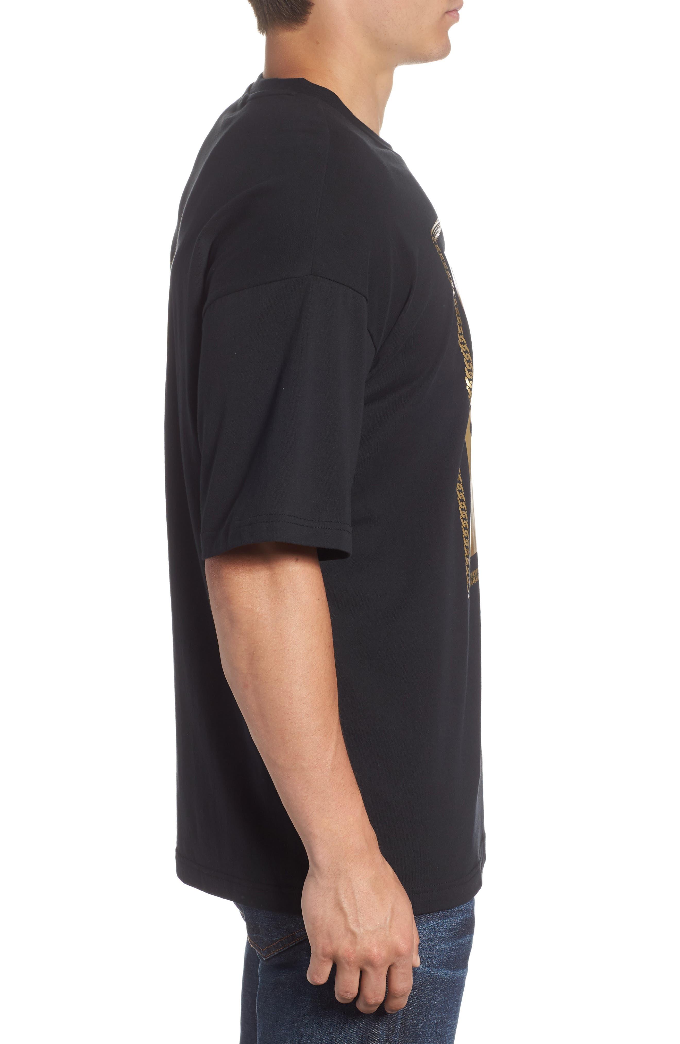 Chains T-Shirt,                             Alternate thumbnail 3, color,                             Puma Black/ Gold