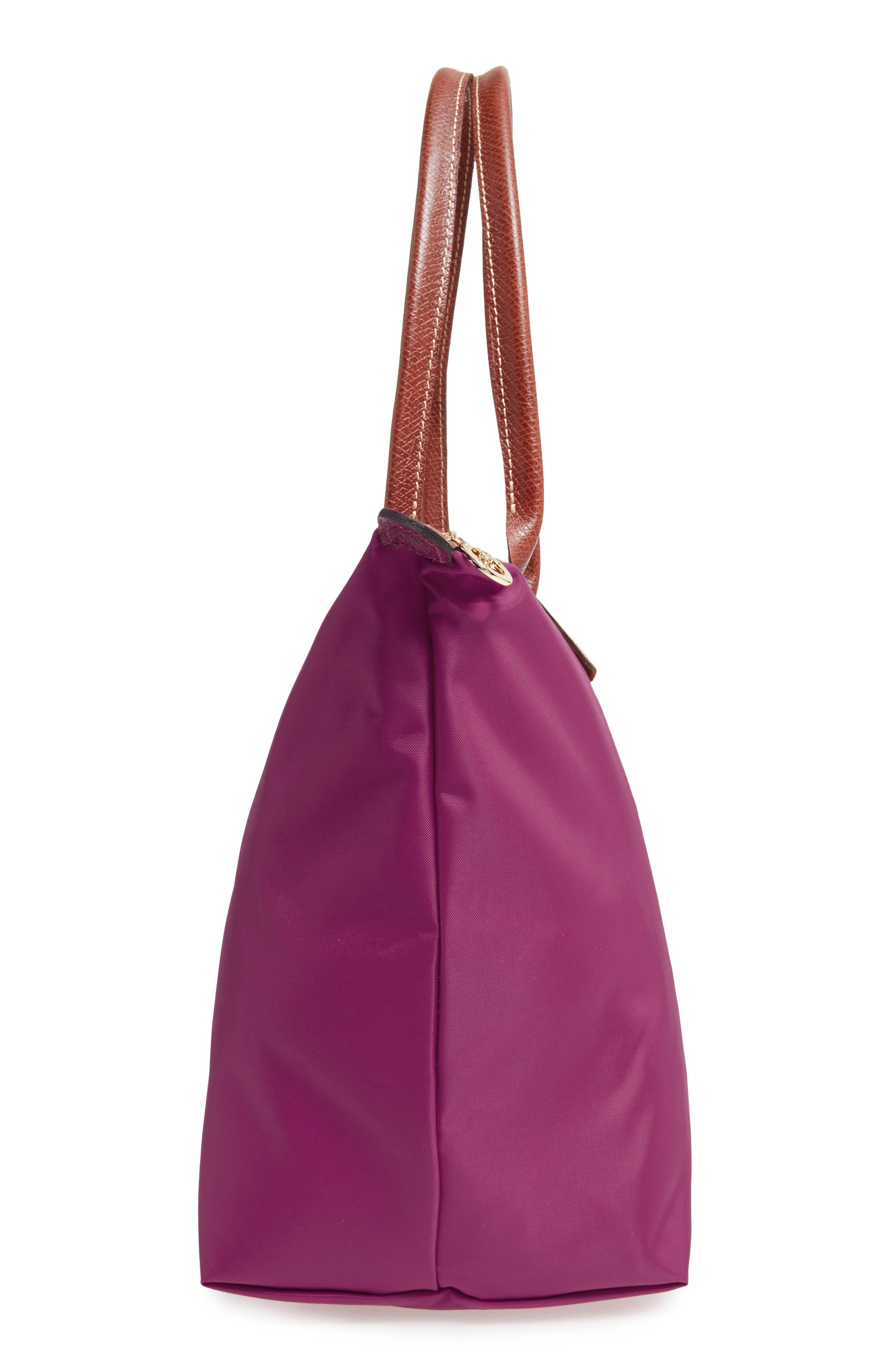 'Large Le Pliage' Tote,                             Alternate thumbnail 4, color,                             Dahlia