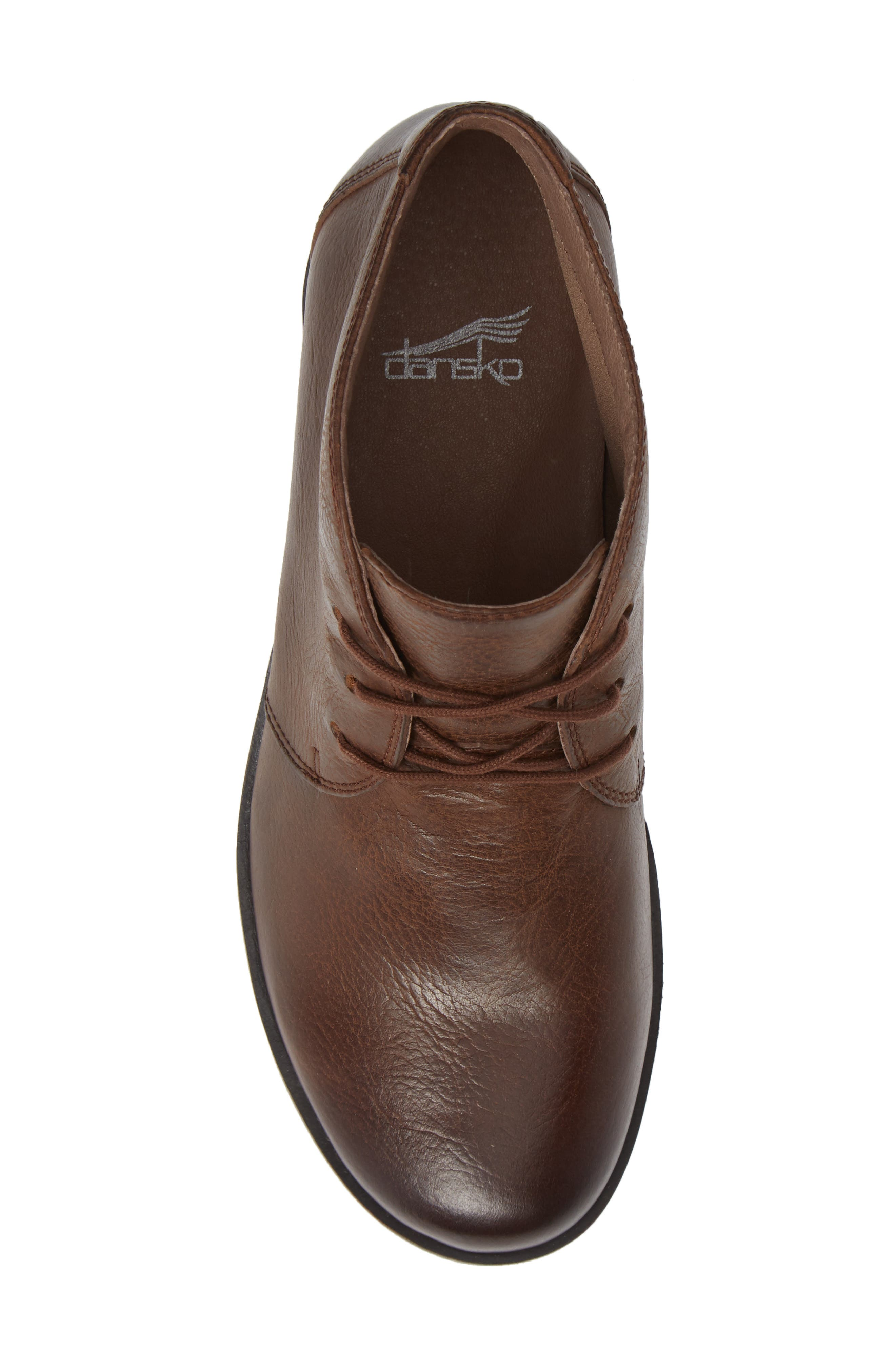 Joy Bootie,                             Alternate thumbnail 3, color,                             Brown Burnished Nubuck Leather