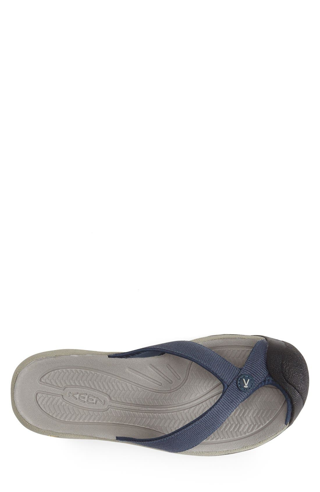 'Waimea H2' Water Thong Sandal,                             Alternate thumbnail 3, color,                             Midnight Navy/ Neutral
