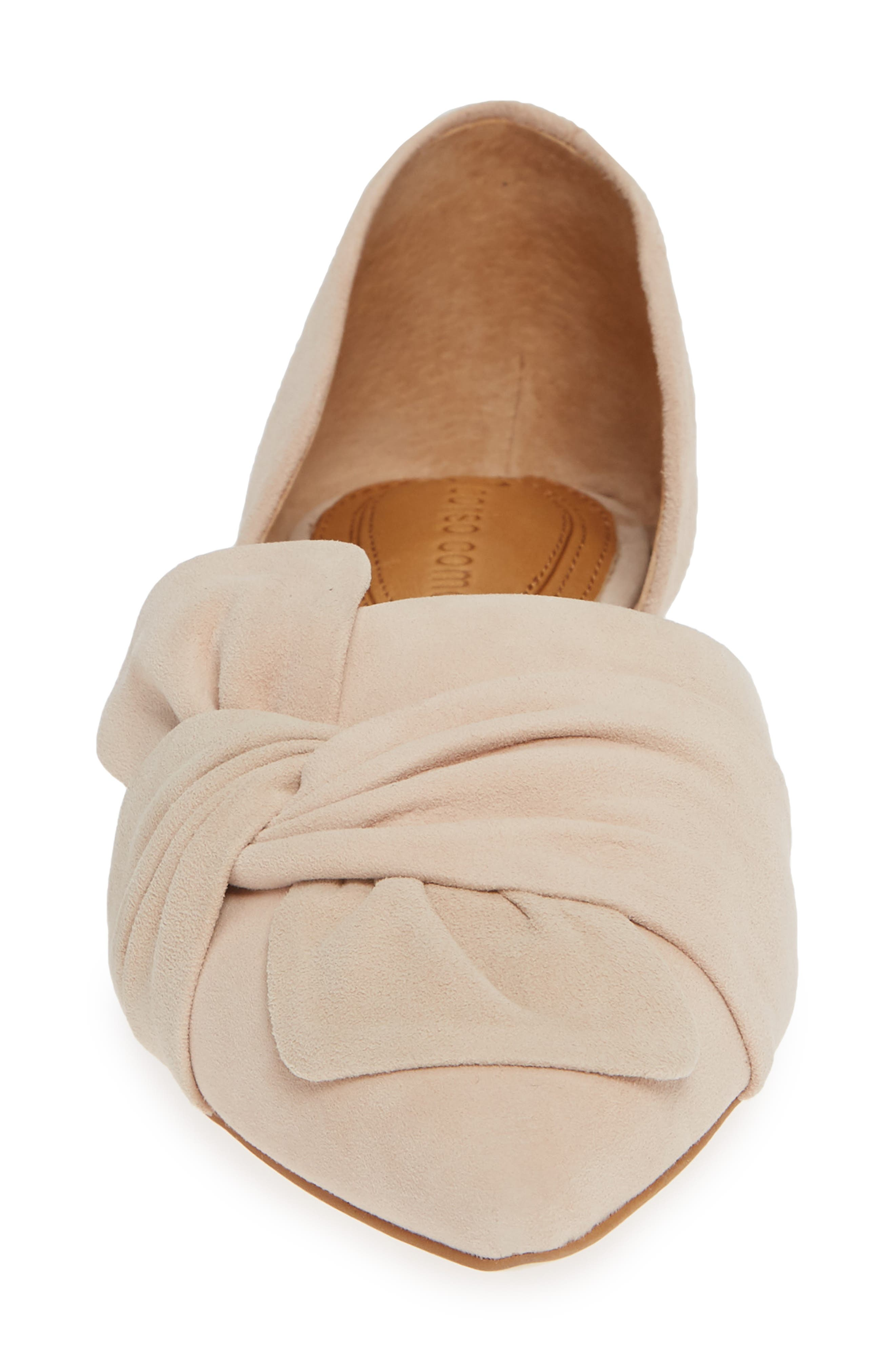 Mollie d'Orsay Flat,                             Alternate thumbnail 6, color,                             Nude Suede