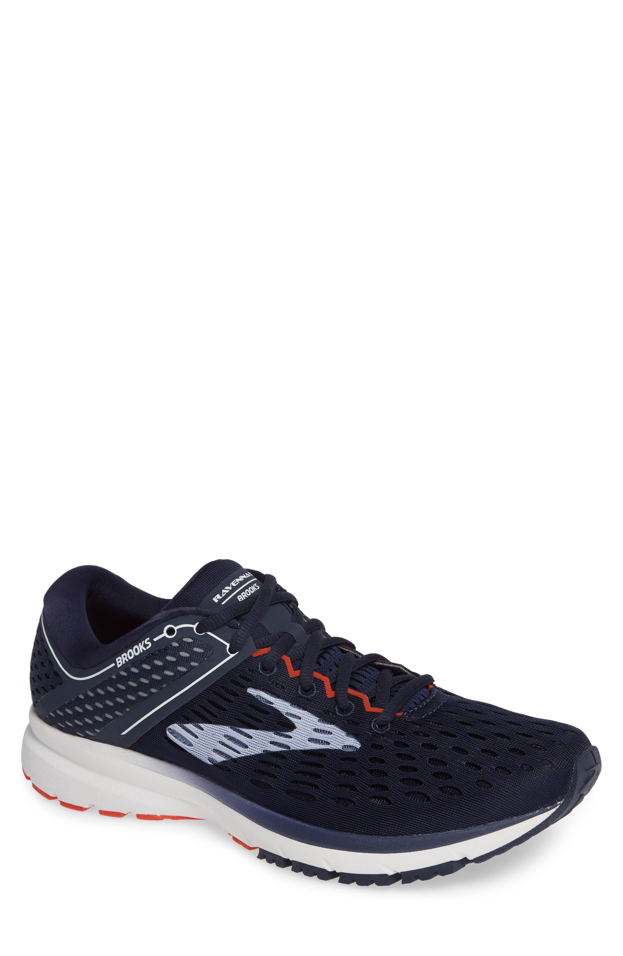 Ravenna 9 Running Shoe,                             Main thumbnail 1, color,                             Navy/ White/ Orange