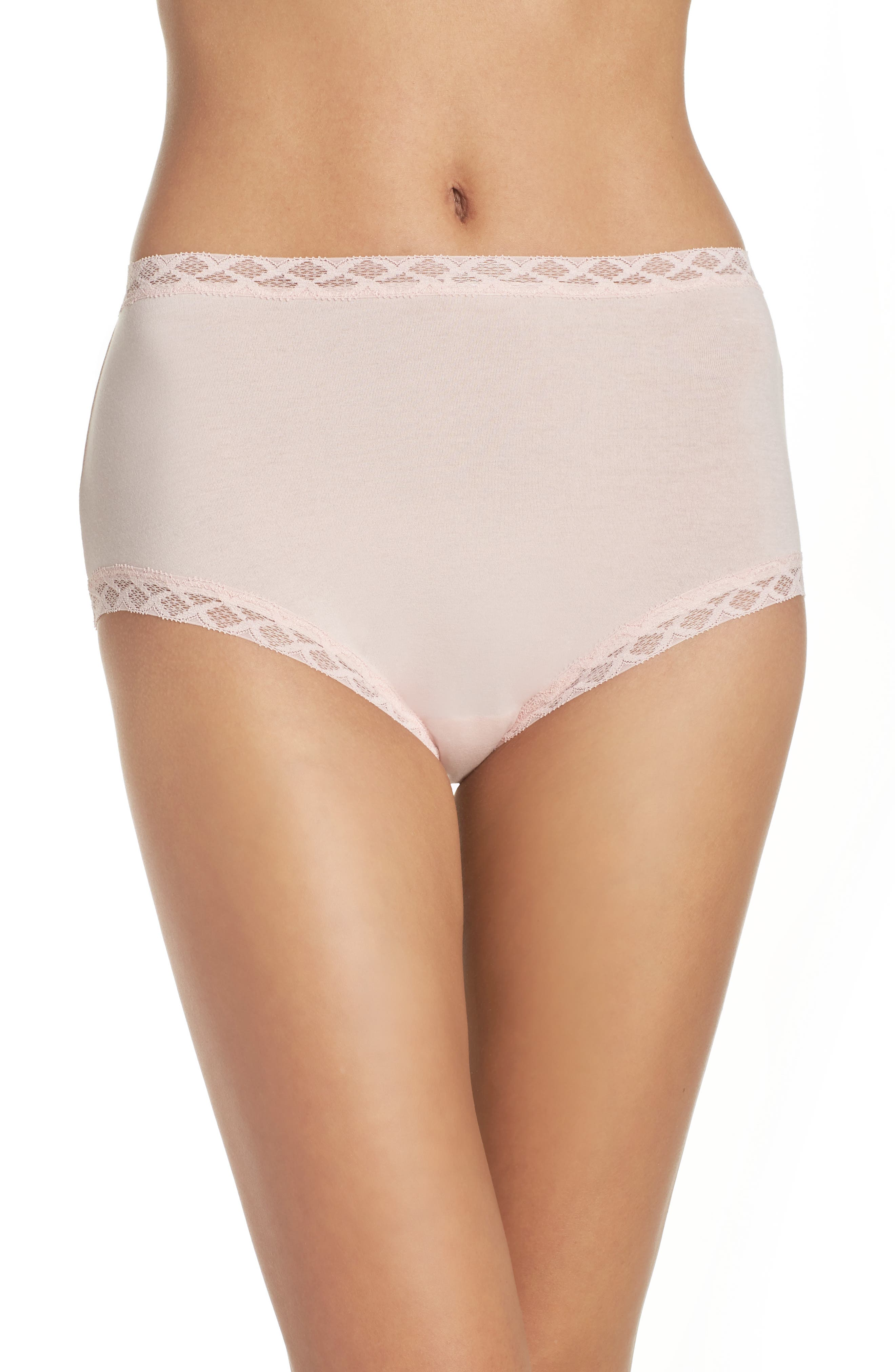 Bliss Cotton Full Brief,                         Main,                         color, Blushing Pink