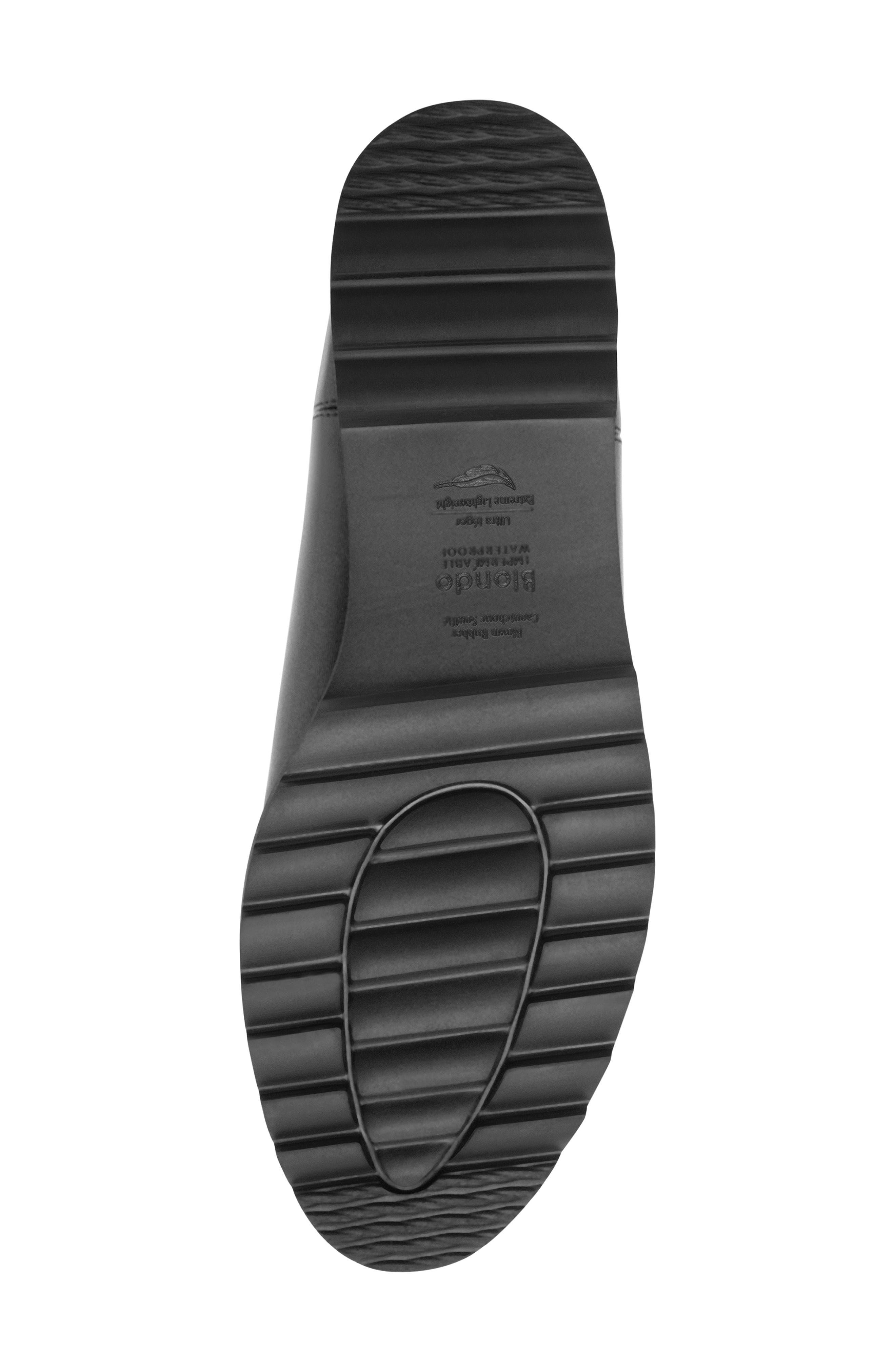 Roman Waterproof Bootie,                             Alternate thumbnail 4, color,                             Black Leather