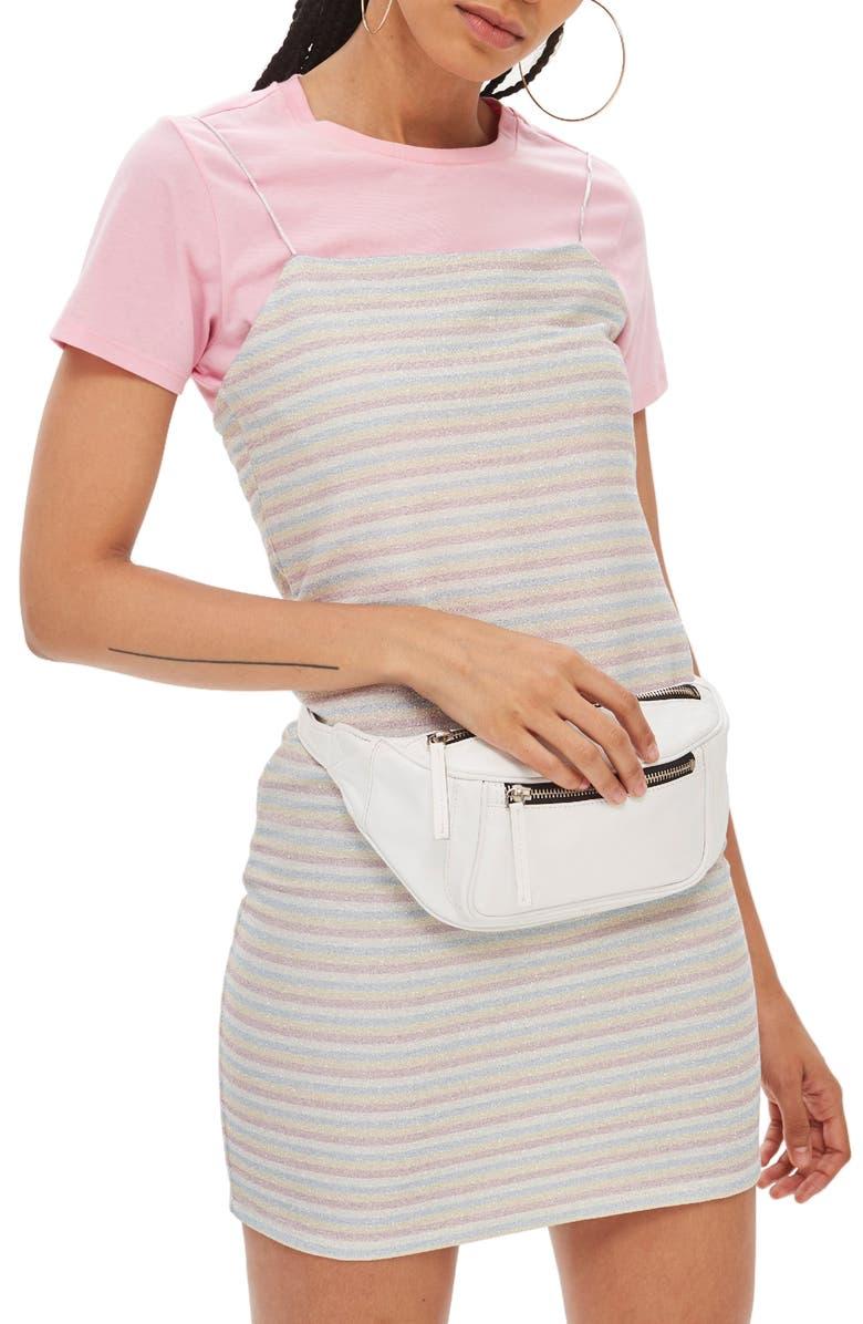 Glitter Stripe Minidress