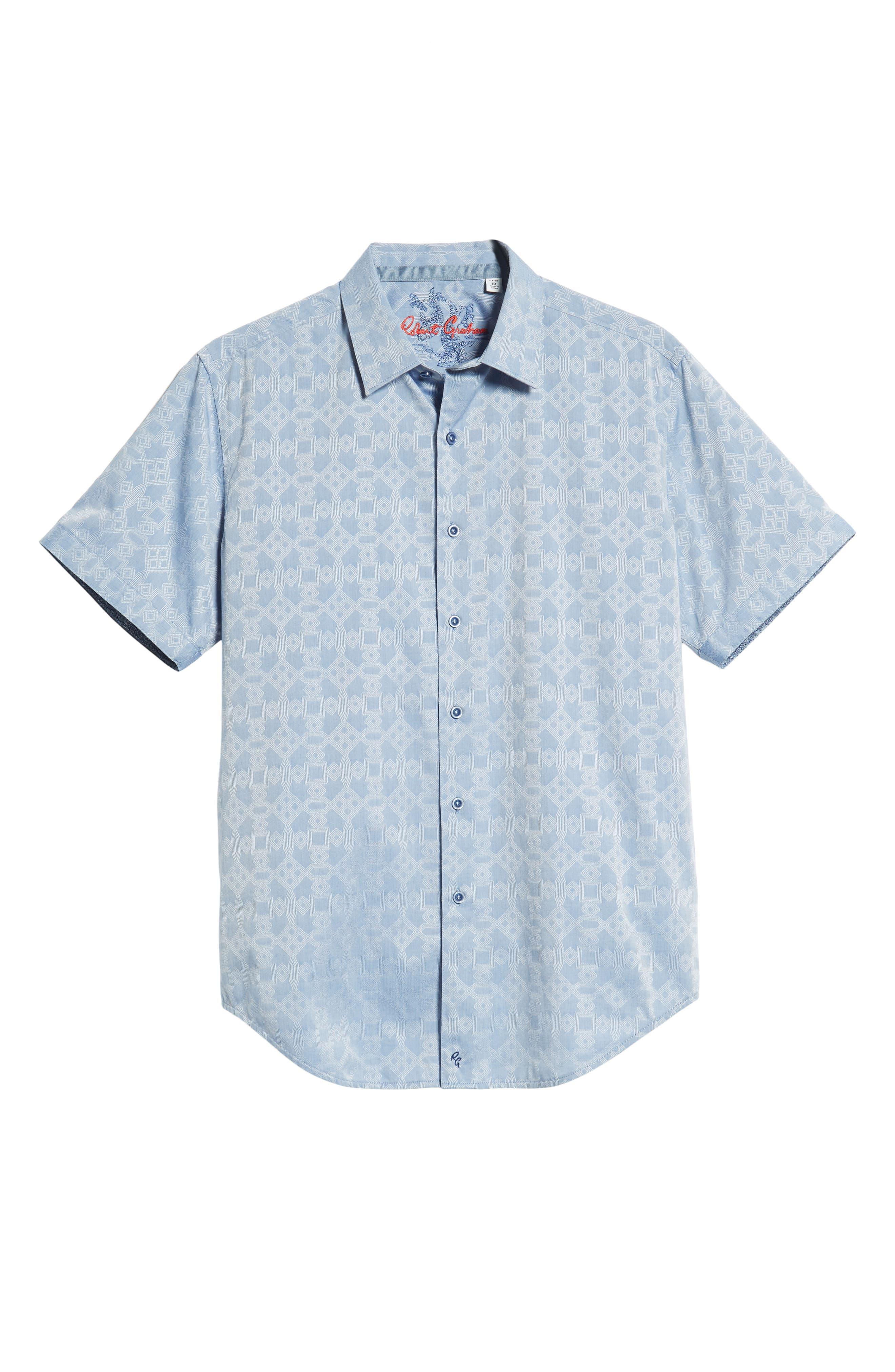 Maya Bay Classic Fit Jacquard Sport Shirt,                         Main,                         color, Blue