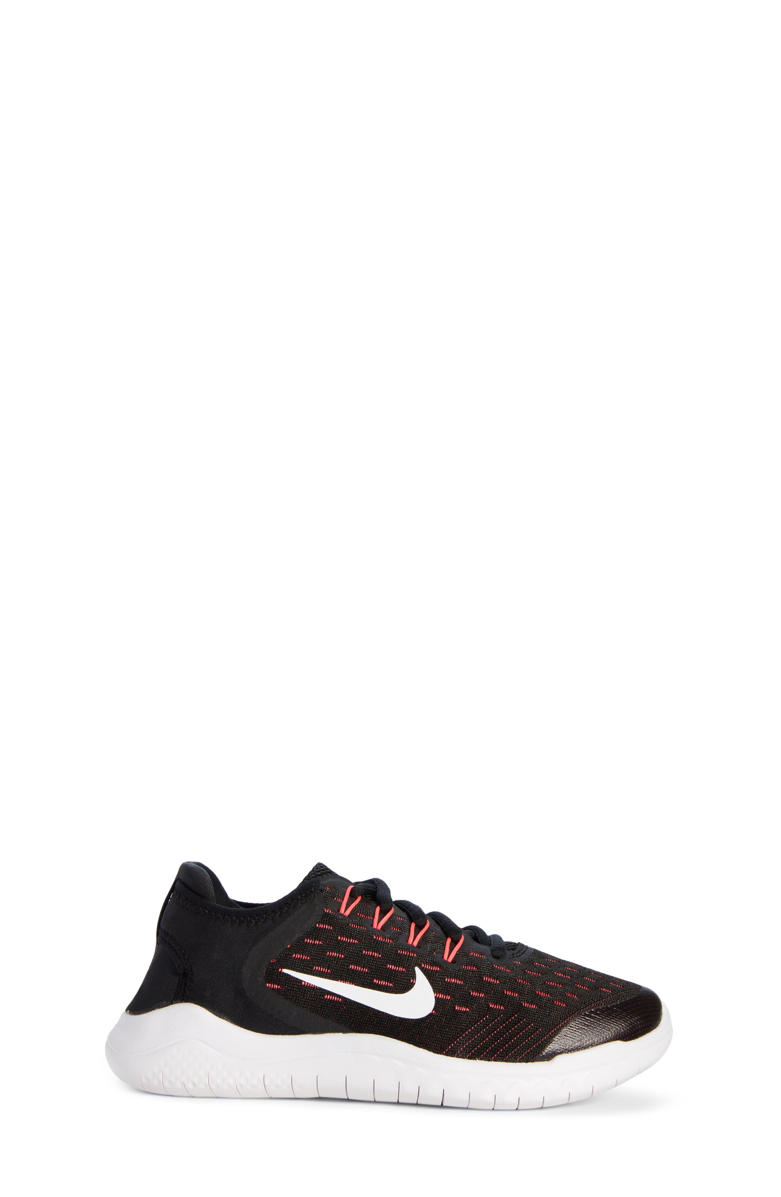 Free RN 2018 Running Shoe,                             Alternate thumbnail 3, color,                             Black/ White/ Pink/ Volt