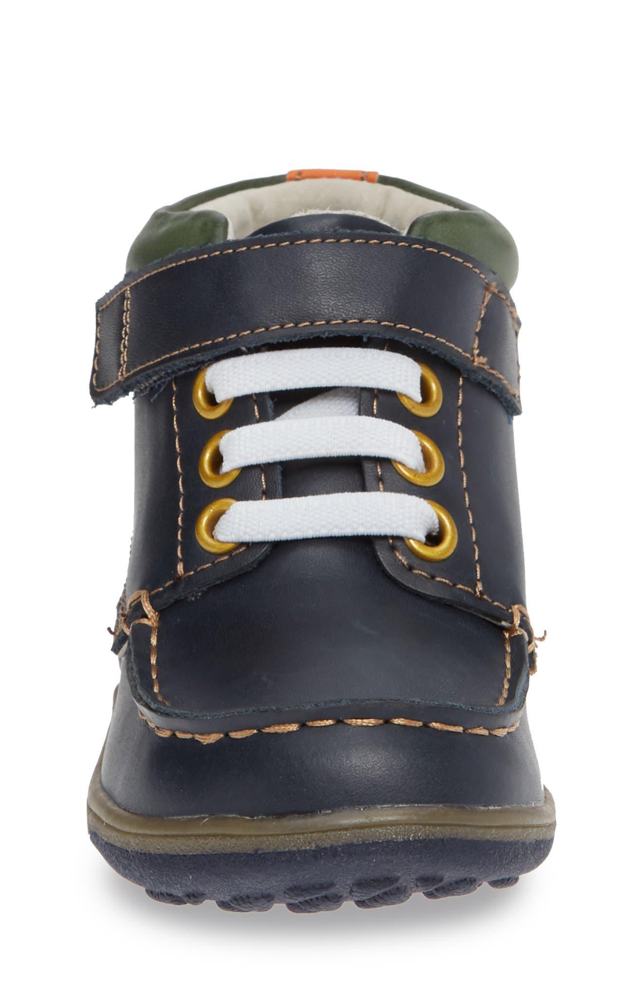 Owen High Top Sneaker Bootie,                             Alternate thumbnail 5, color,                             Navy