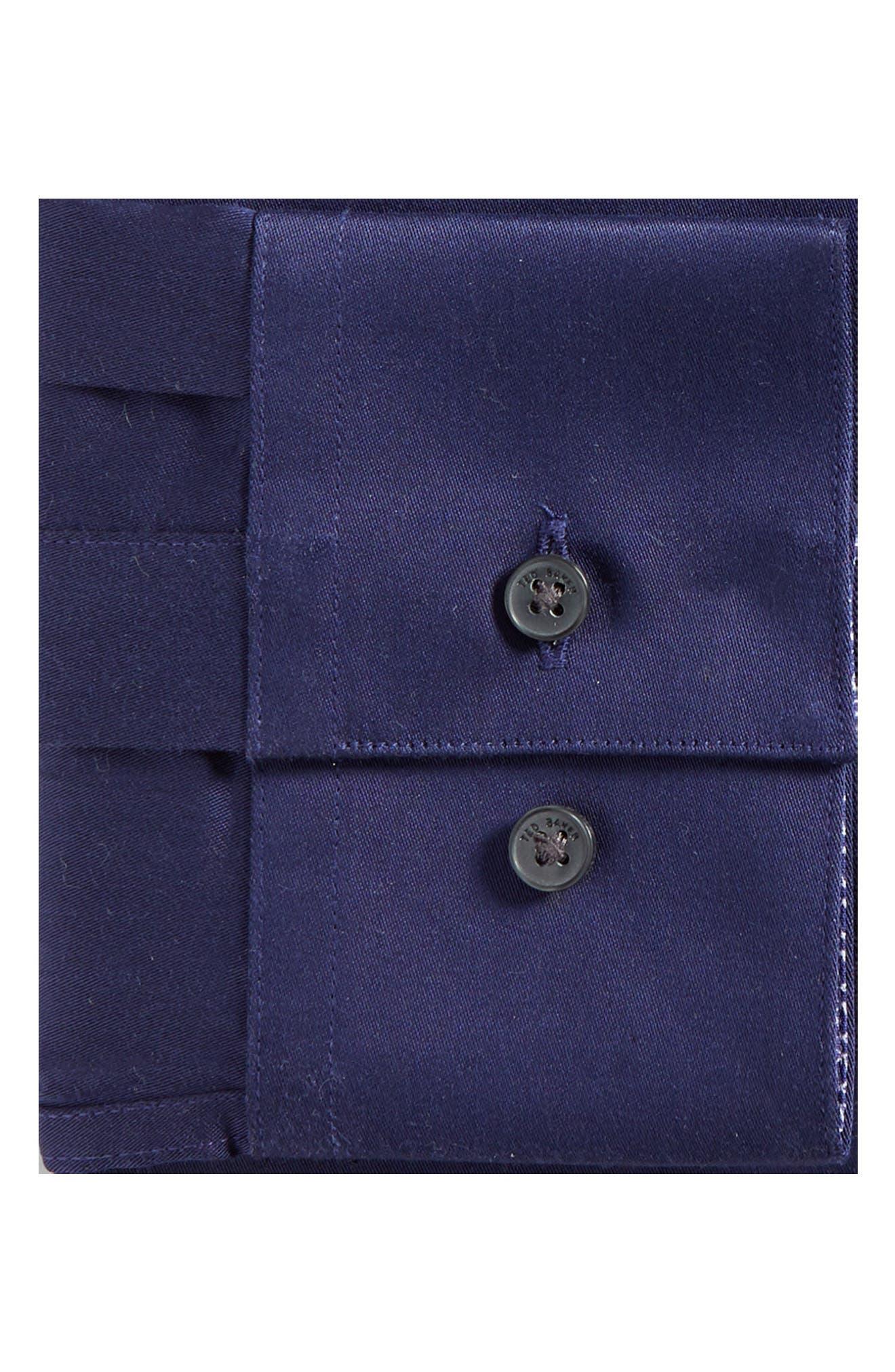 Endurance Bookers Slim Fit Solid Dress Shirt,                             Alternate thumbnail 5, color,                             Navy