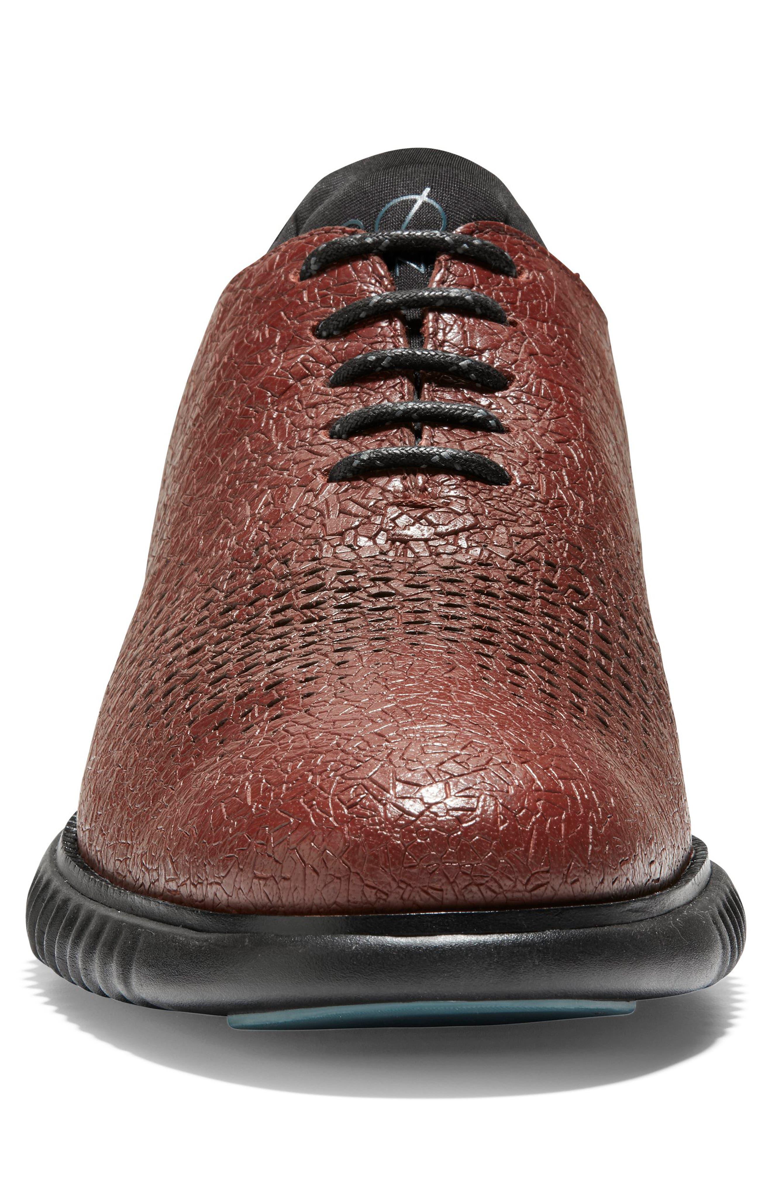 2.ZeroGrand Wingtip,                             Alternate thumbnail 6, color,                             Hickory/ Black Leather