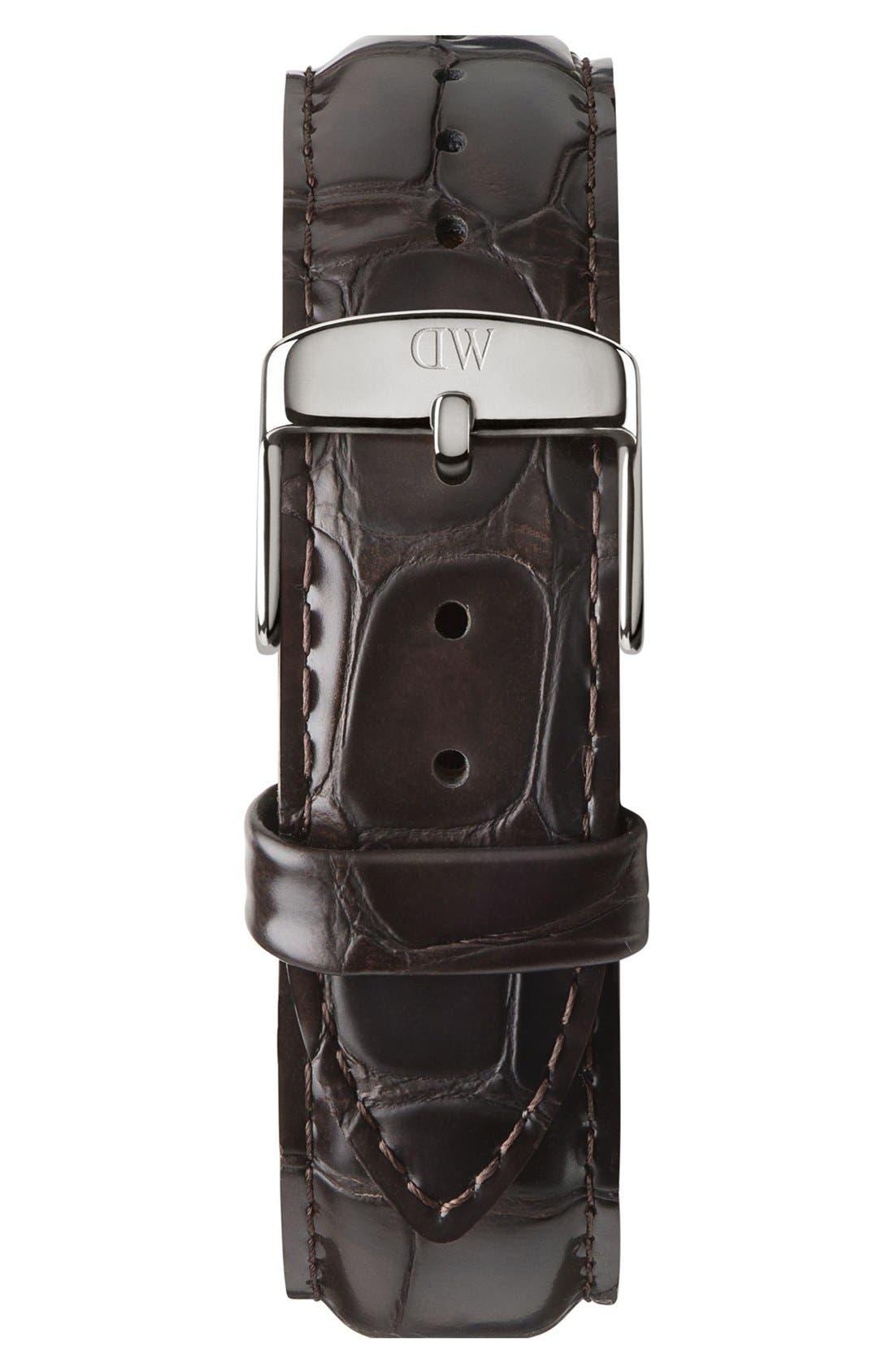 Alternate Image 3  - Daniel Wellington 'Classic York' Leather Strap Watch, 40mm