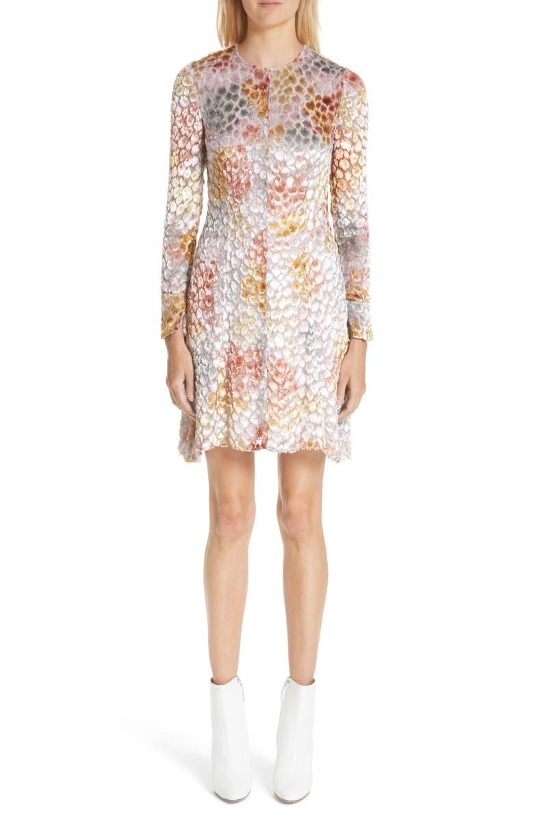 Painted Velvet Jacquard Dress