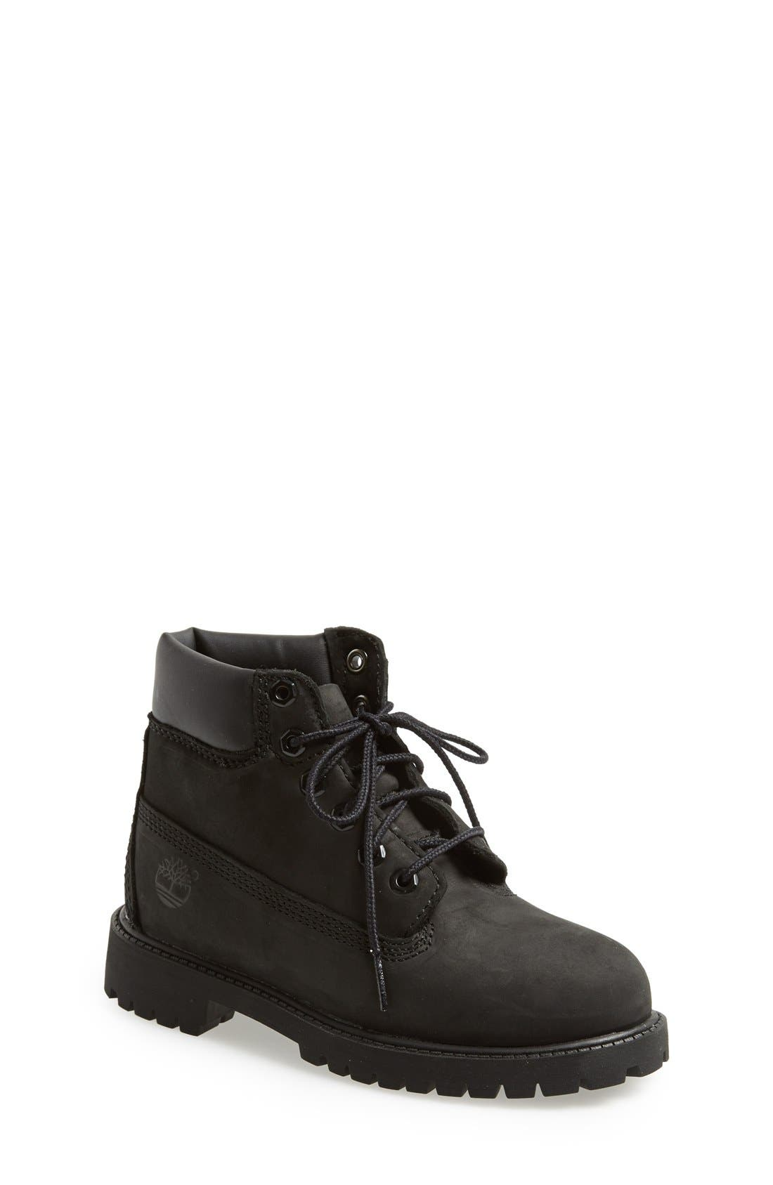 timberland 6 inch classic youth grey monochromatic nubuck ankle boots