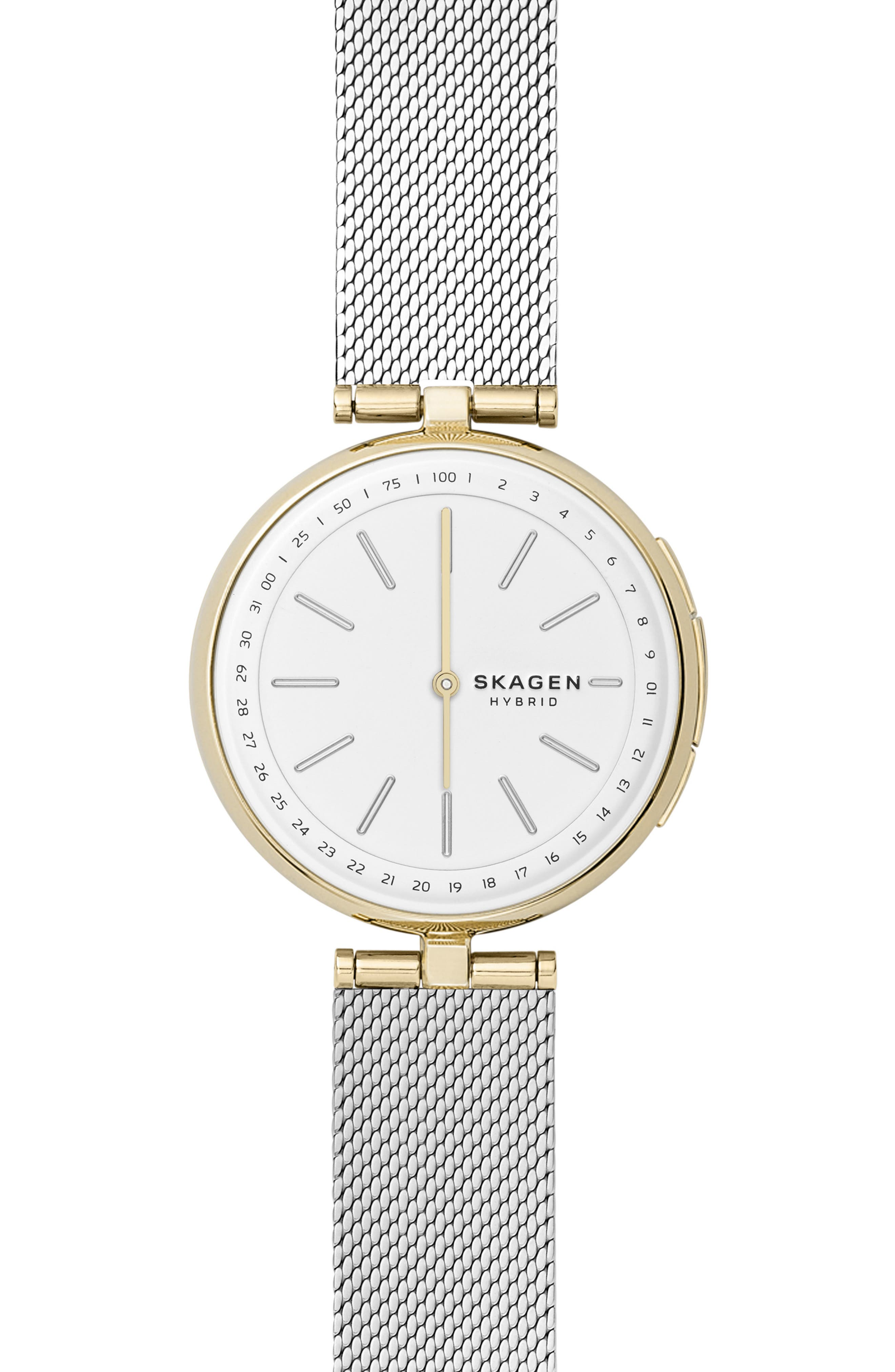 SKAGEN SIGNATURE T-BAR HYBRID SMARTWATCH, 36MM