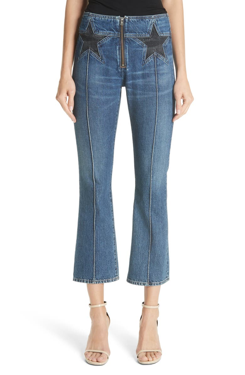 Star Crop Flare Jeans