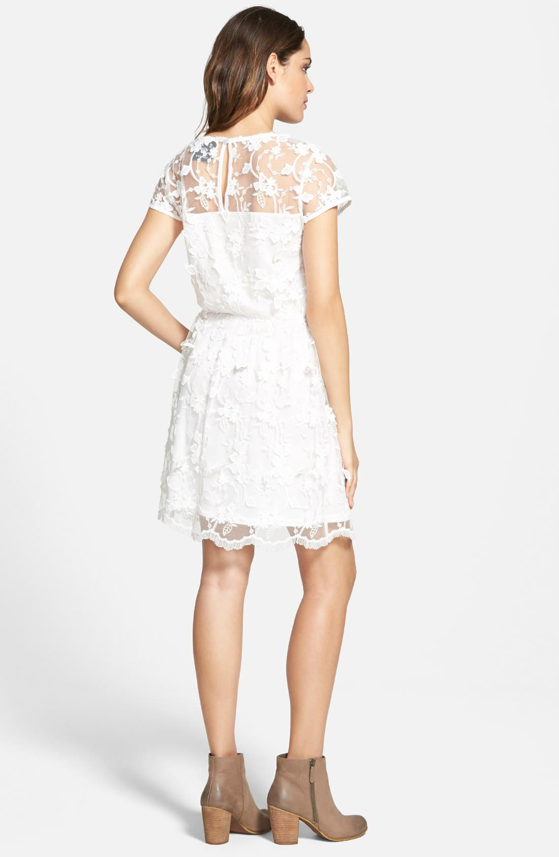 Alternate Image 2  - Leola Couture Floral Embroidered Skater Dress